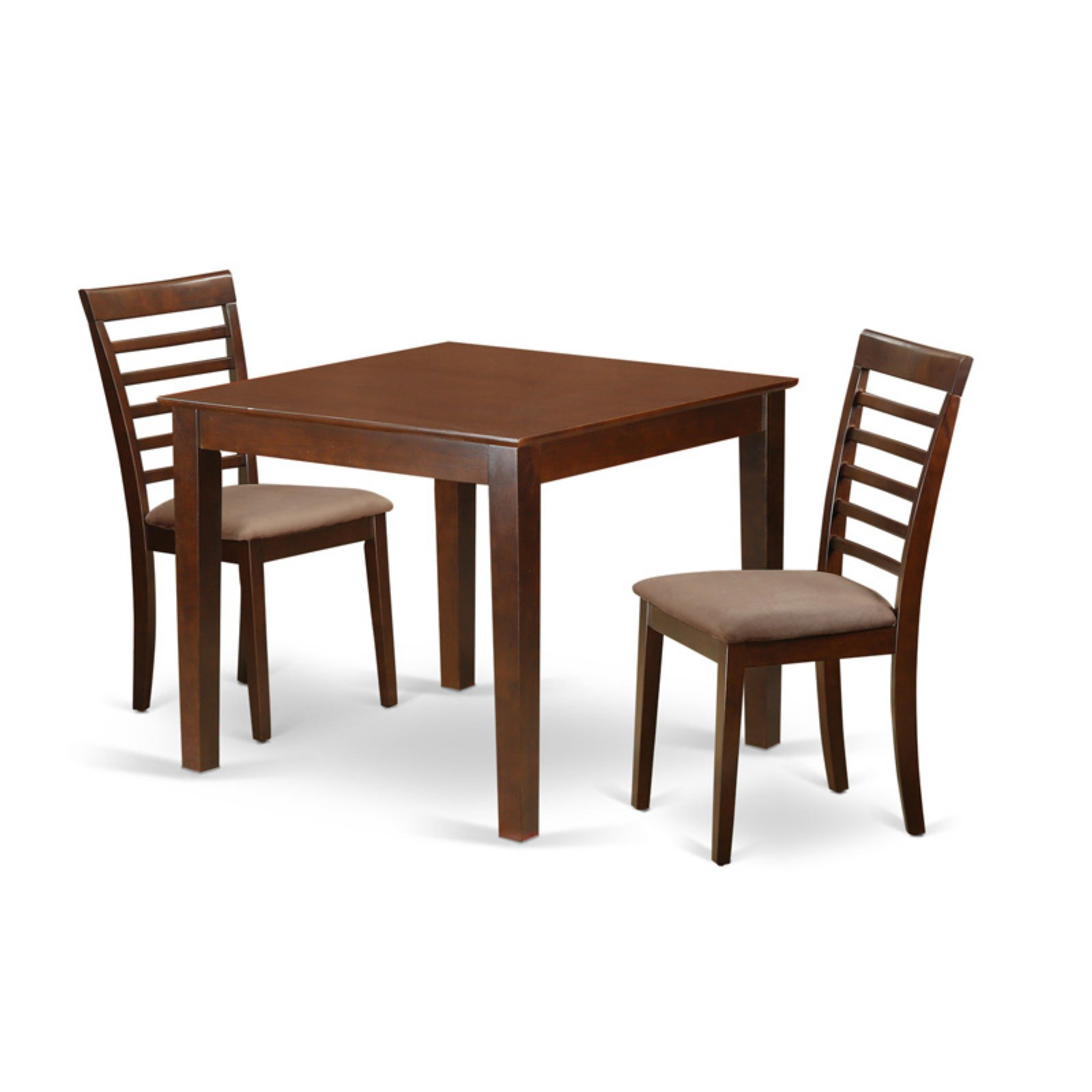 Recent Smyrna 3 Piece Dining Sets Inside East West Furniture 3 Piece Straight Ladderback Breakfast Nook (View 5 of 25)
