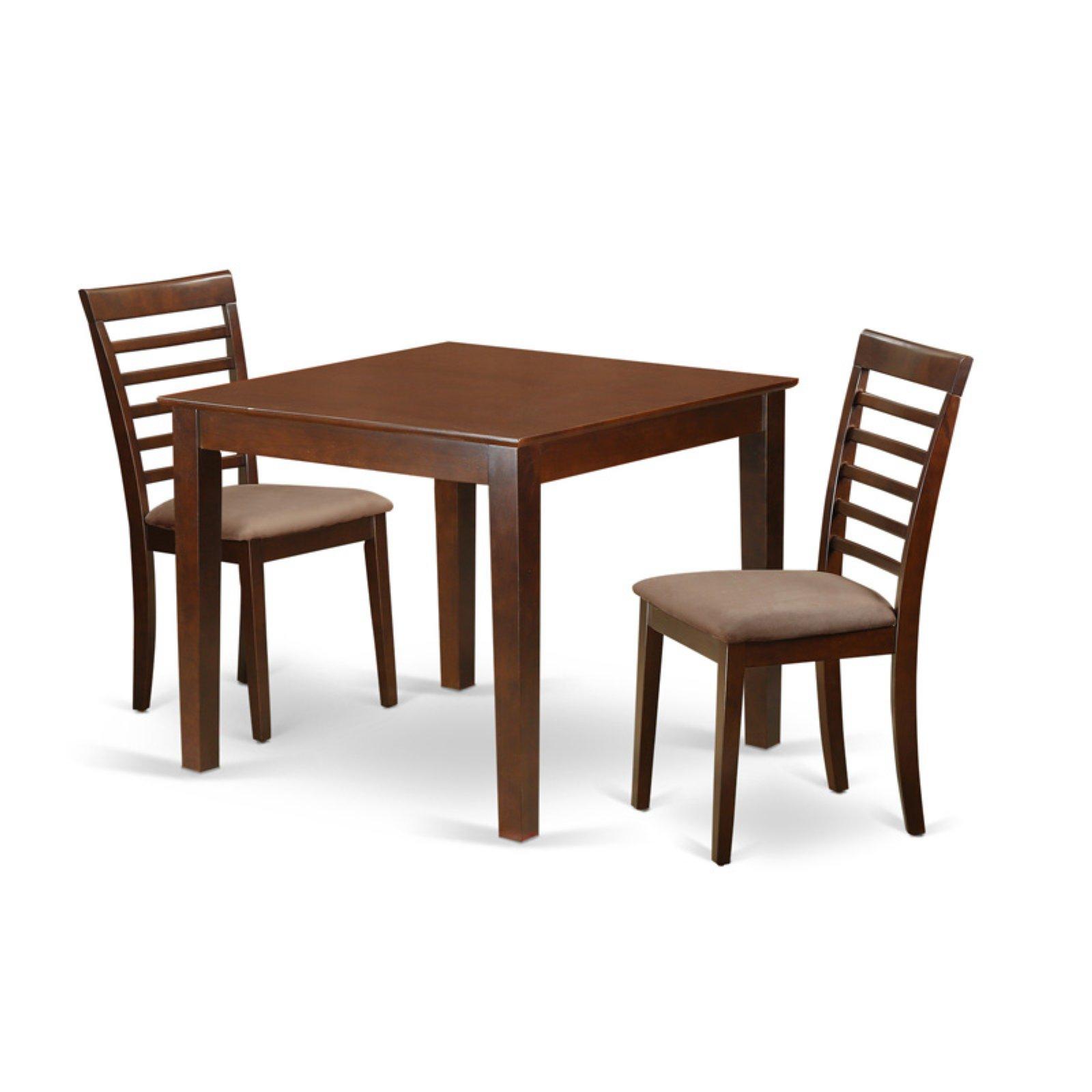Recent Smyrna 3 Piece Dining Sets inside East West Furniture 3 Piece Straight Ladderback Breakfast Nook