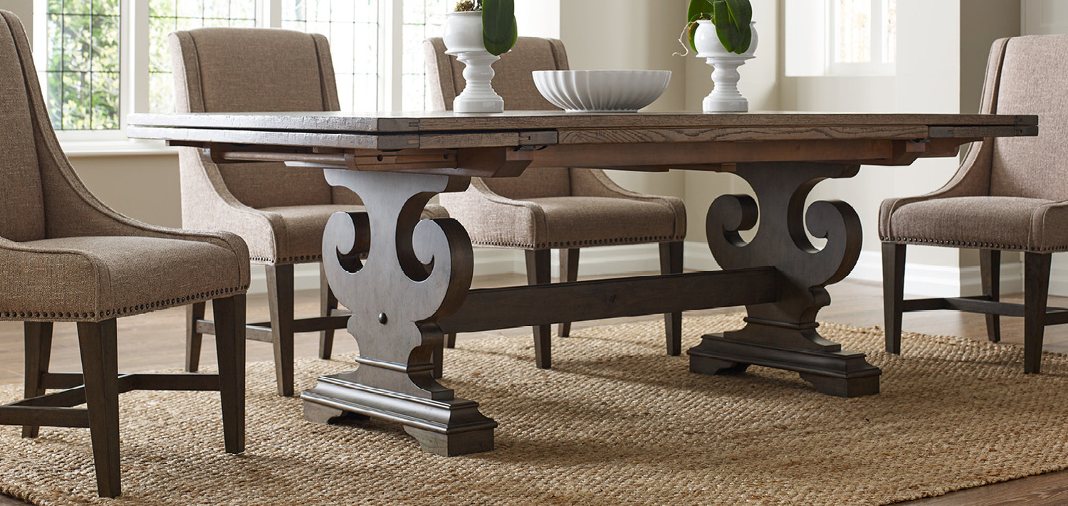 Recent Solid Wood Furniture And Custom Upholsterykincaid Furniture, Nc within Evellen 5 Piece Solid Wood Dining Sets (Set Of 5)