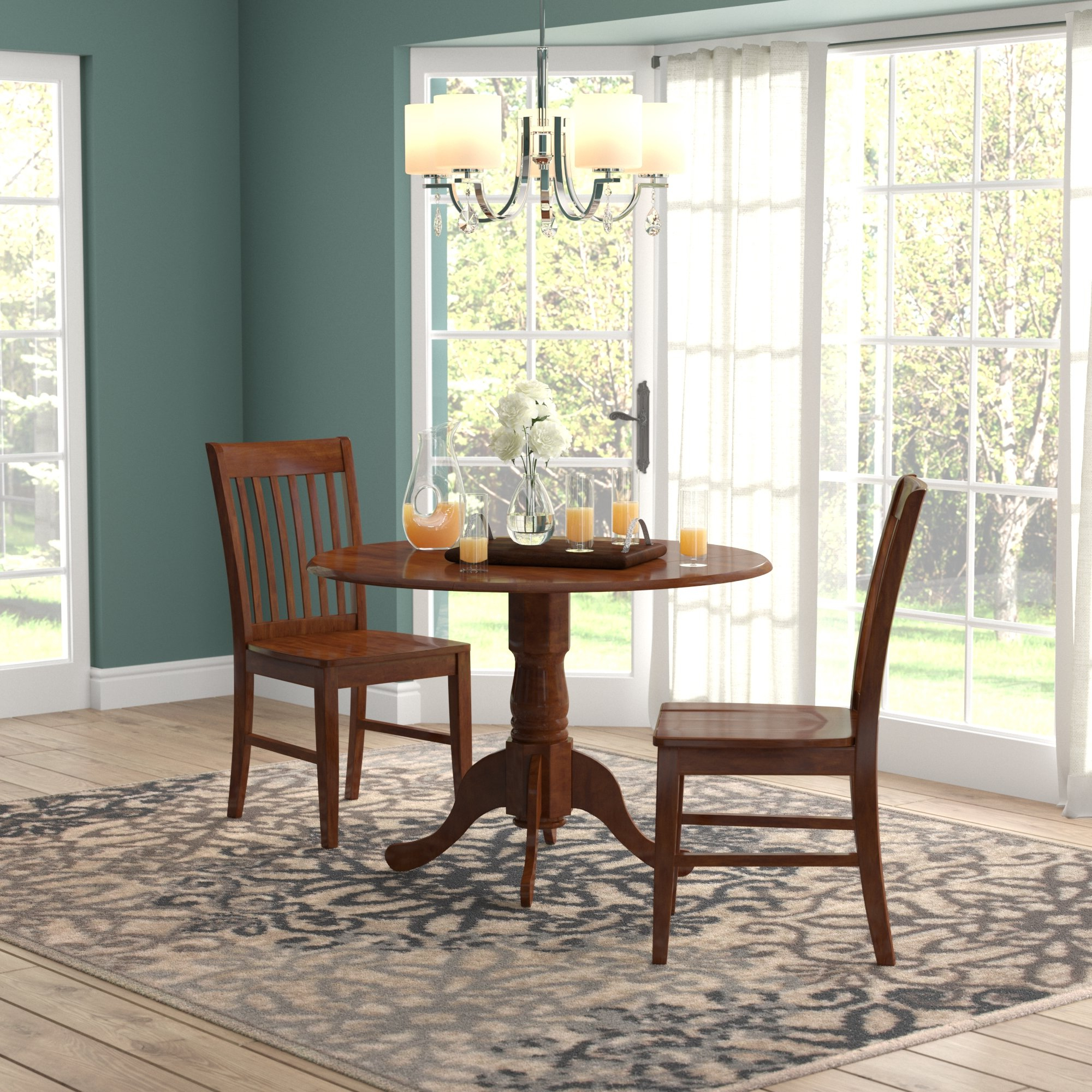 Recent West Hill Family Table 3 Piece Dining Sets Inside August Grove Spruill 3 Piece Drop Leaf Dining Set & Reviews (View 13 of 25)