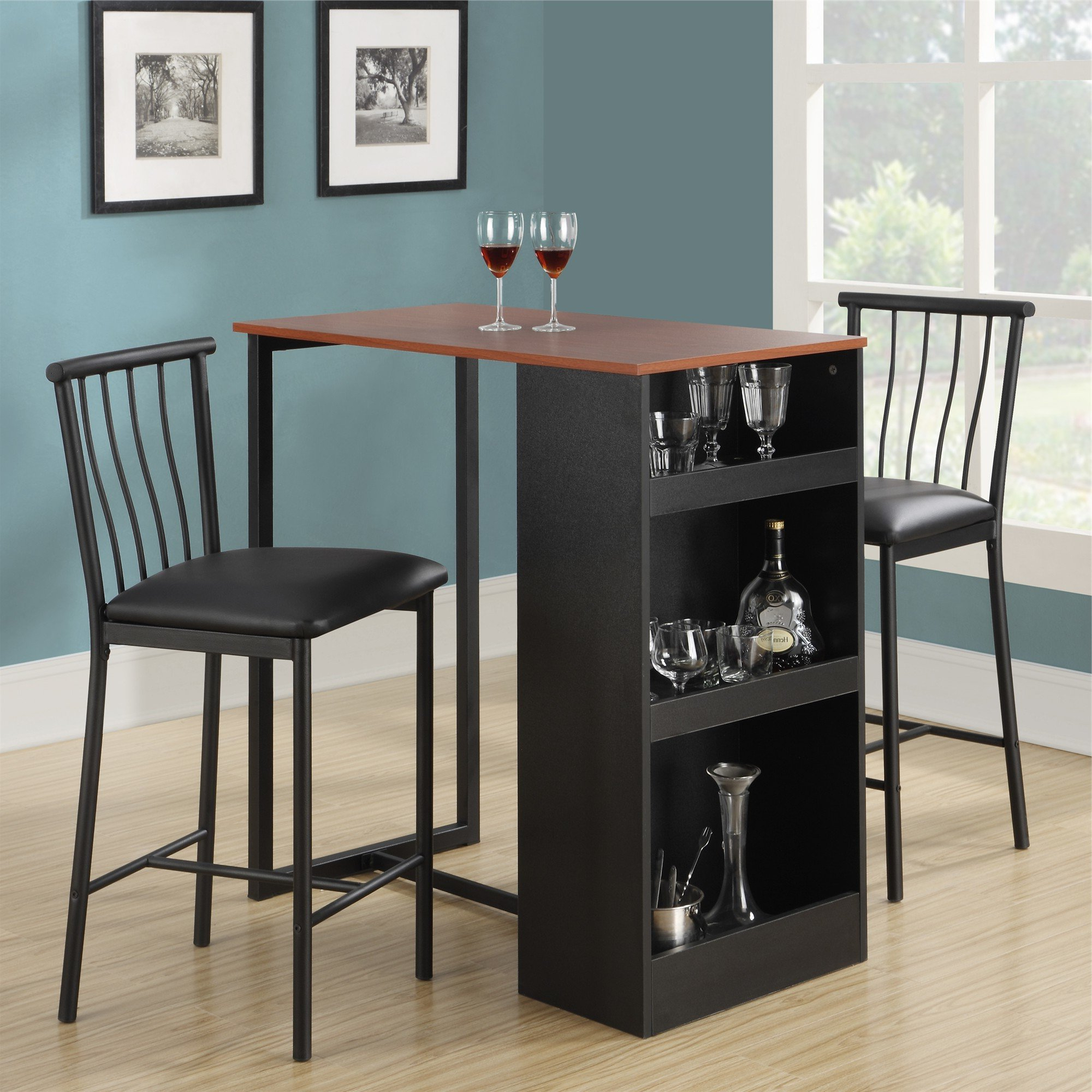 Red Barrel Studio Francis 3 Piece Counter Height Pub Table Set Regarding Latest Tenney 3 Piece Counter Height Dining Sets (View 9 of 25)