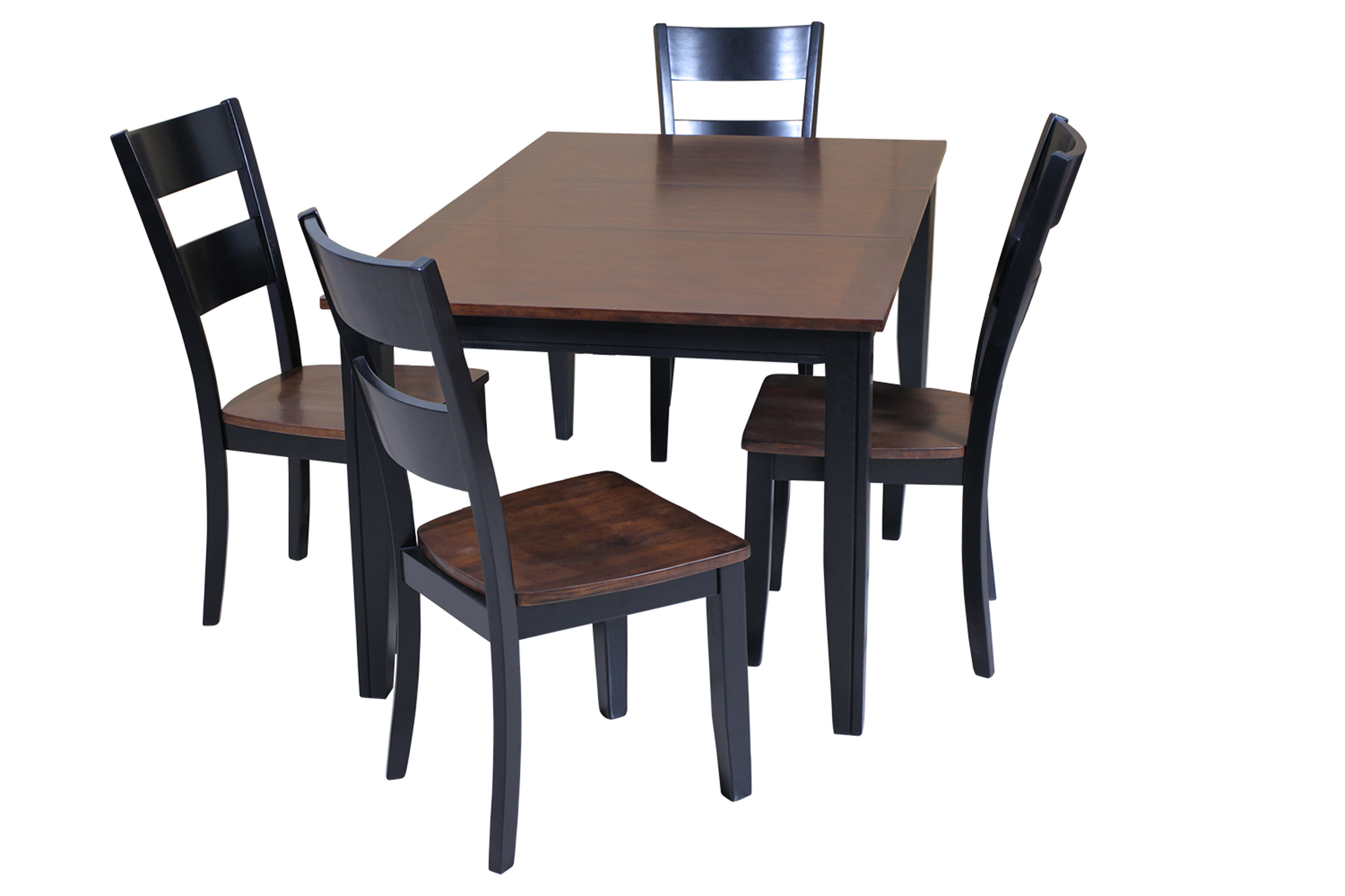 Red Barrel Studio Haan 5 Piece Solid Wood Dining Set With Butterfly Within Well Liked Adan 5 Piece Solid Wood Dining Sets (Set Of 5) (View 5 of 25)