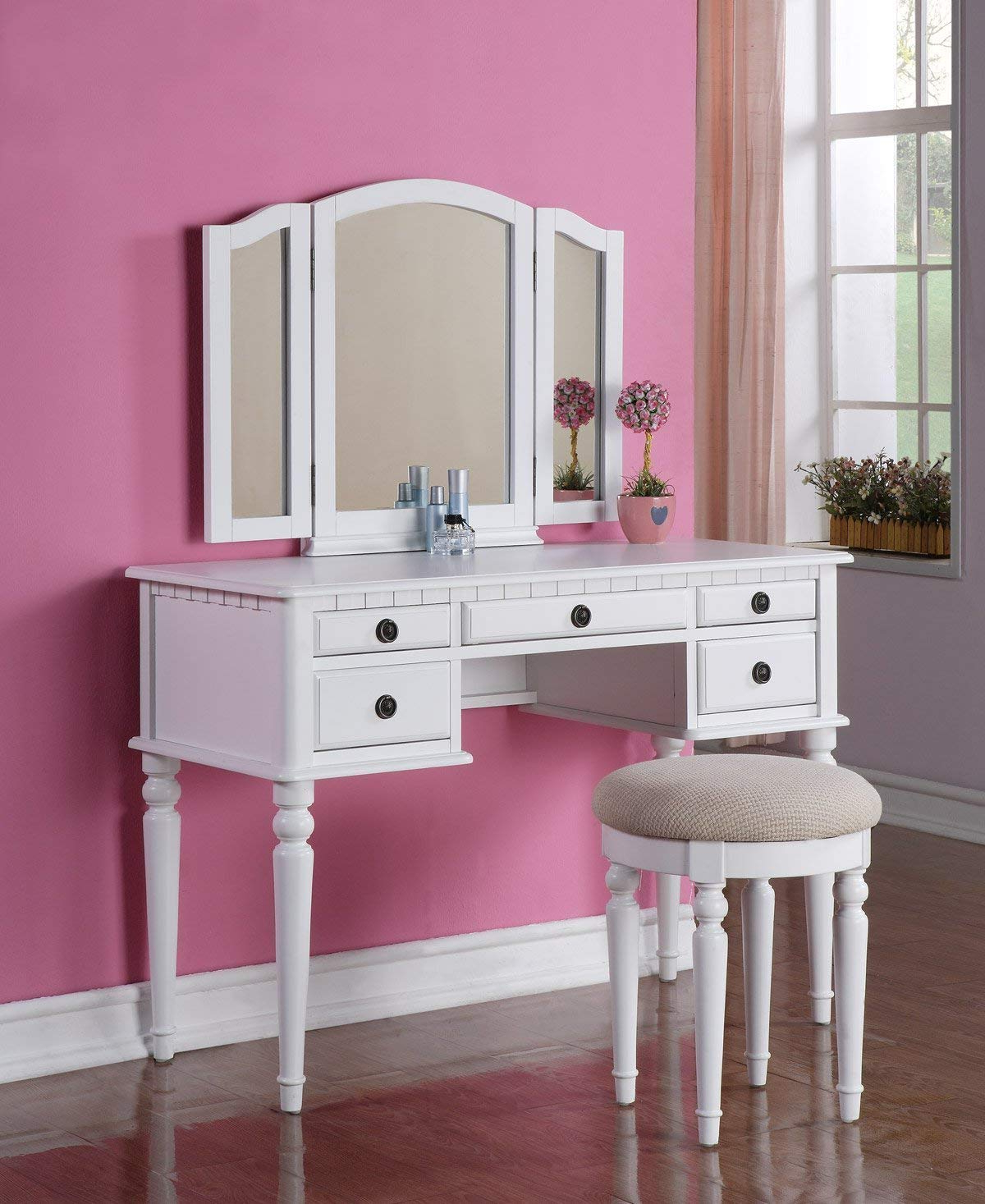 [%Review]Bobkona F4072 St. Croix Collection Vanity Set With Stool Intended For 2020 Saintcroix 3 Piece Dining Sets Saintcroix 3 Piece Dining Sets With Widely Used Review]Bobkona F4072 St. Croix Collection Vanity Set With Stool Recent Saintcroix 3 Piece Dining Sets Throughout Review]Bobkona F4072 St. Croix Collection Vanity Set With Stool Most Recent Review]Bobkona F4072 St (View 1 of 25)