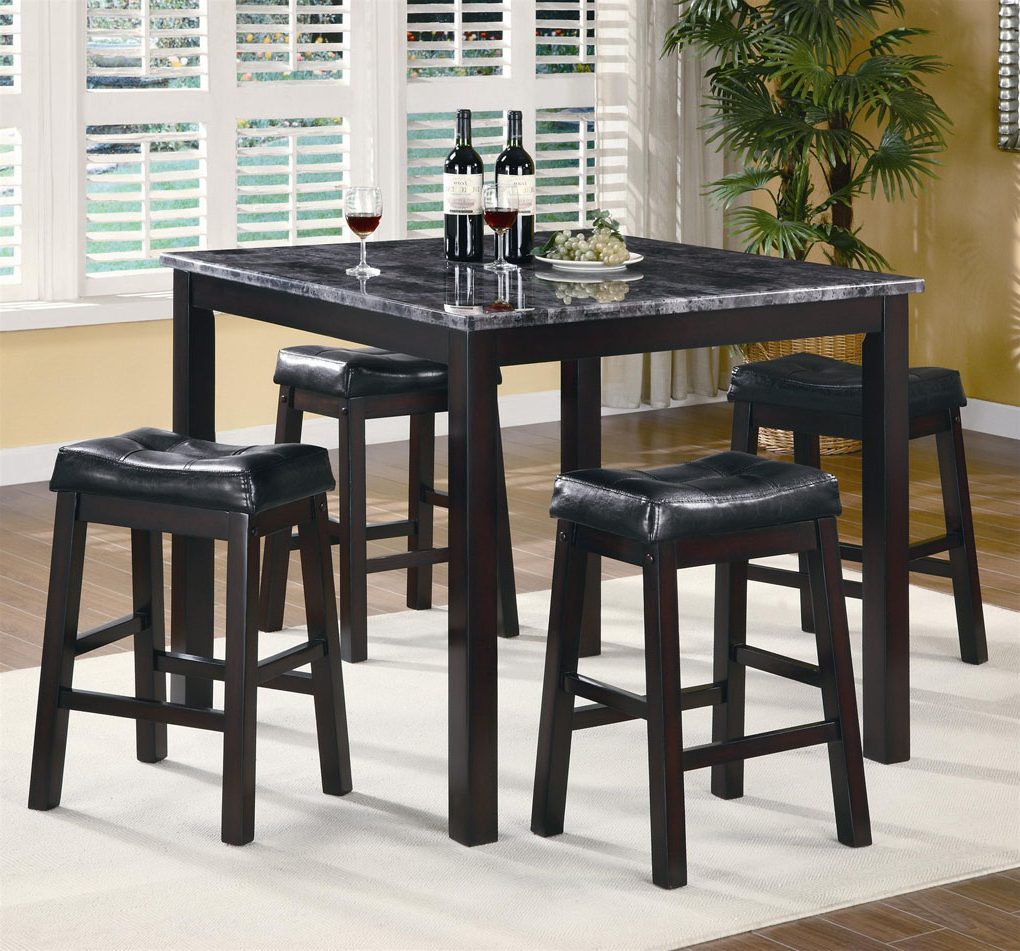 Rossi 5 Piece Dining Sets Inside Most Current Dining Room: Cozy Counter Height Dinette Sets For Your Dining (View 14 of 25)