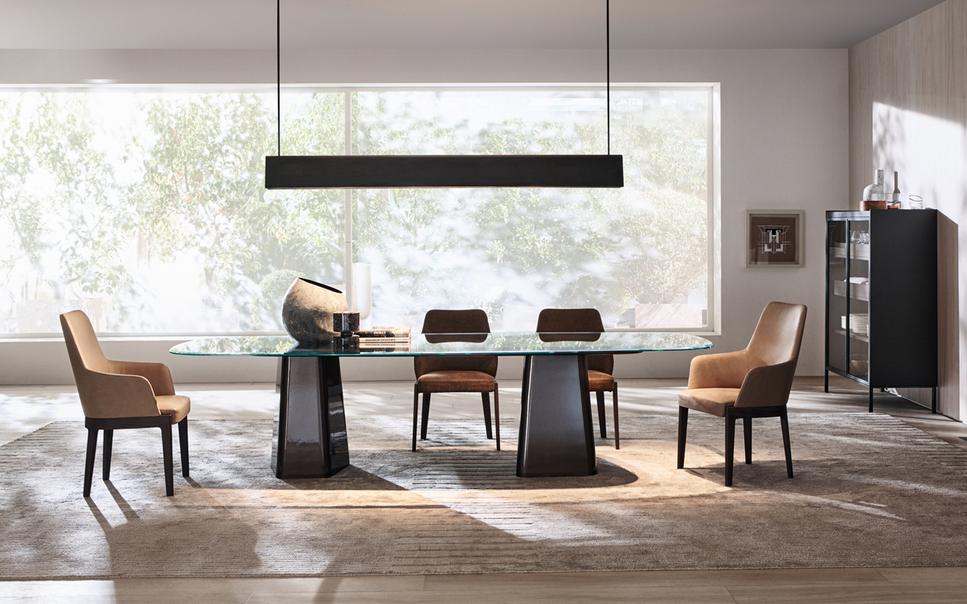 Rossi 5 Piece Dining Sets Regarding Well Liked Mayfair – Tables – Molteni&c (View 18 of 25)