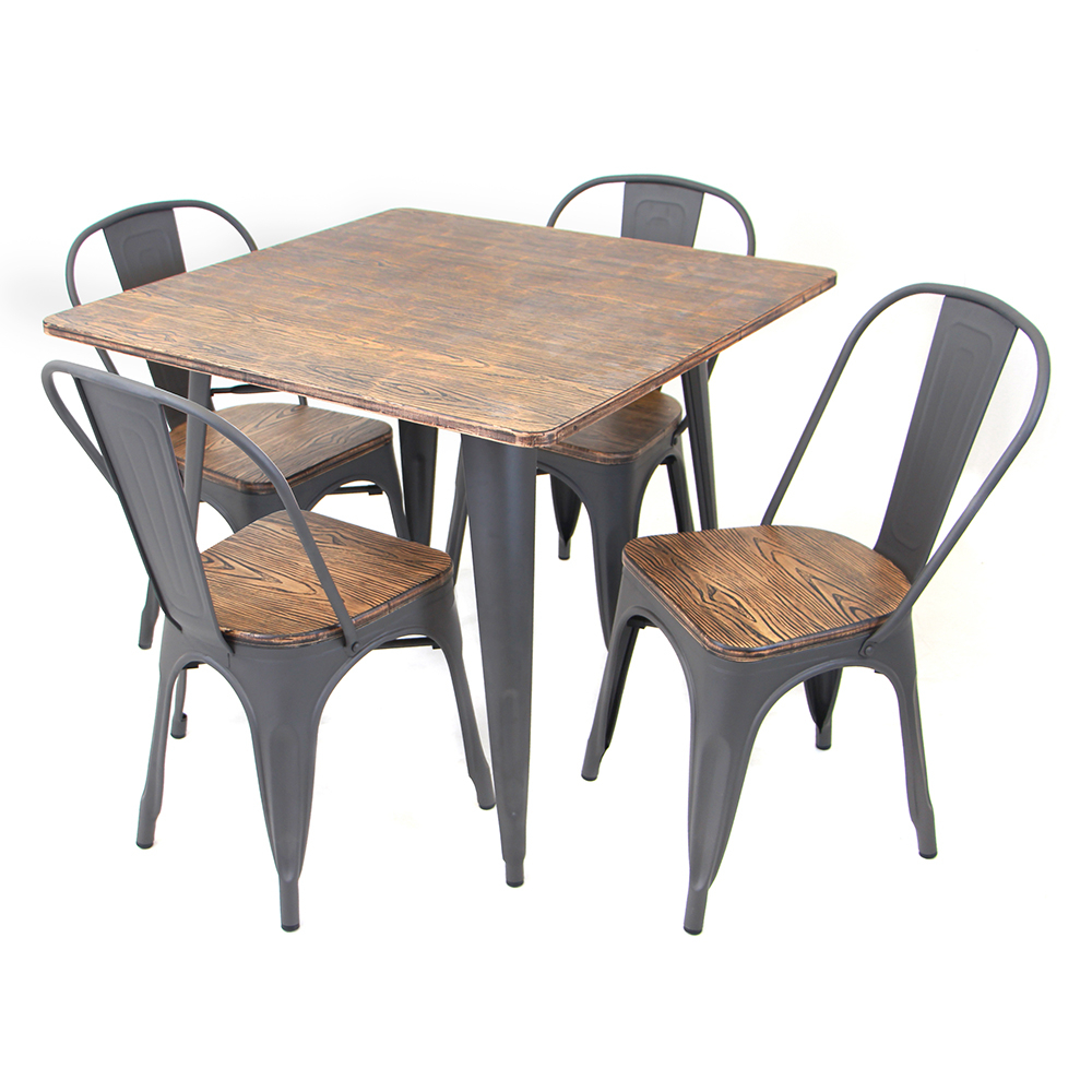 Rustic regarding Telauges 5 Piece Dining Sets