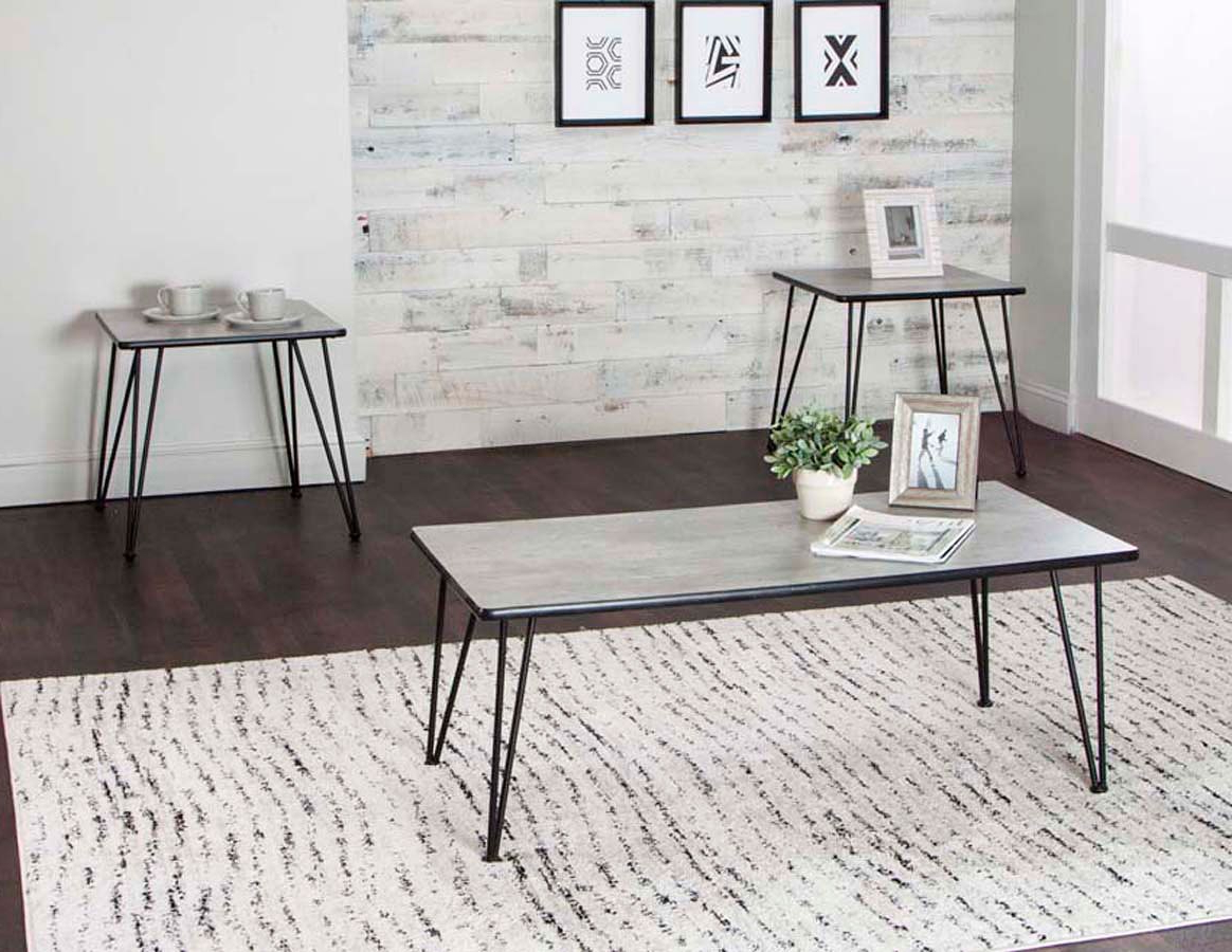 Ryker 3-Piece Concrete Laminate Occasional Table Setcramco intended for Popular Ryker 3 Piece Dining Sets