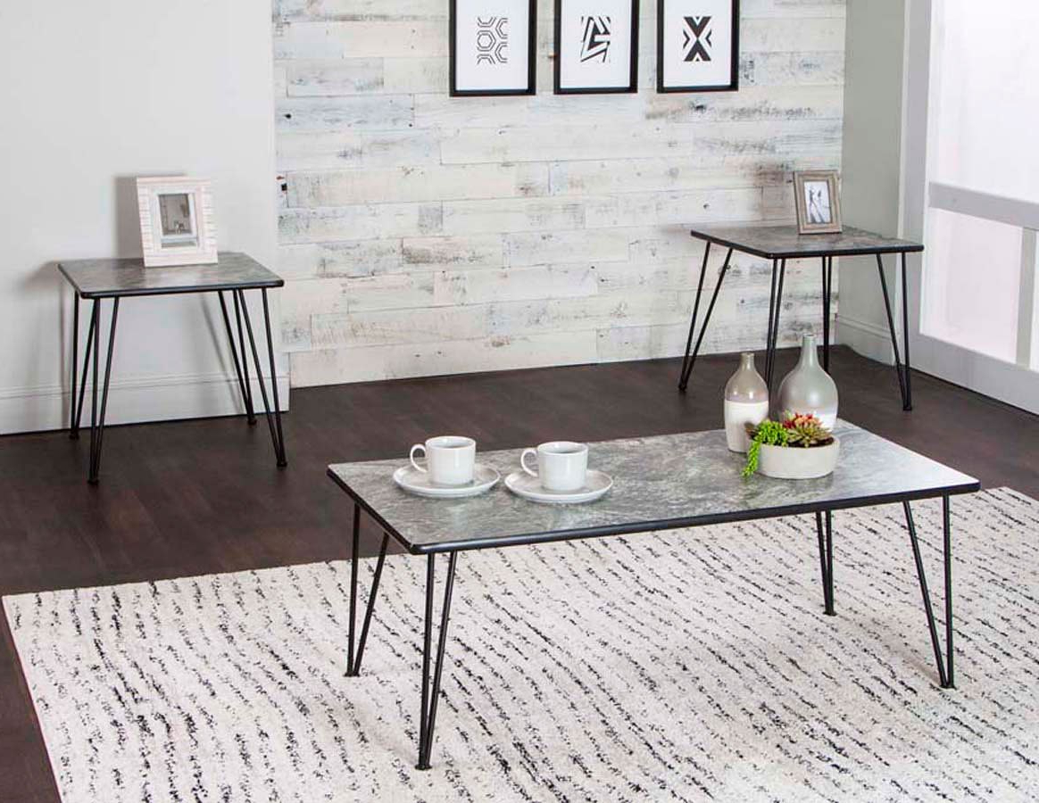 Ryker 3-Piece Magna Laminate Occasional Table Setcramco for 2019 Ryker 3 Piece Dining Sets