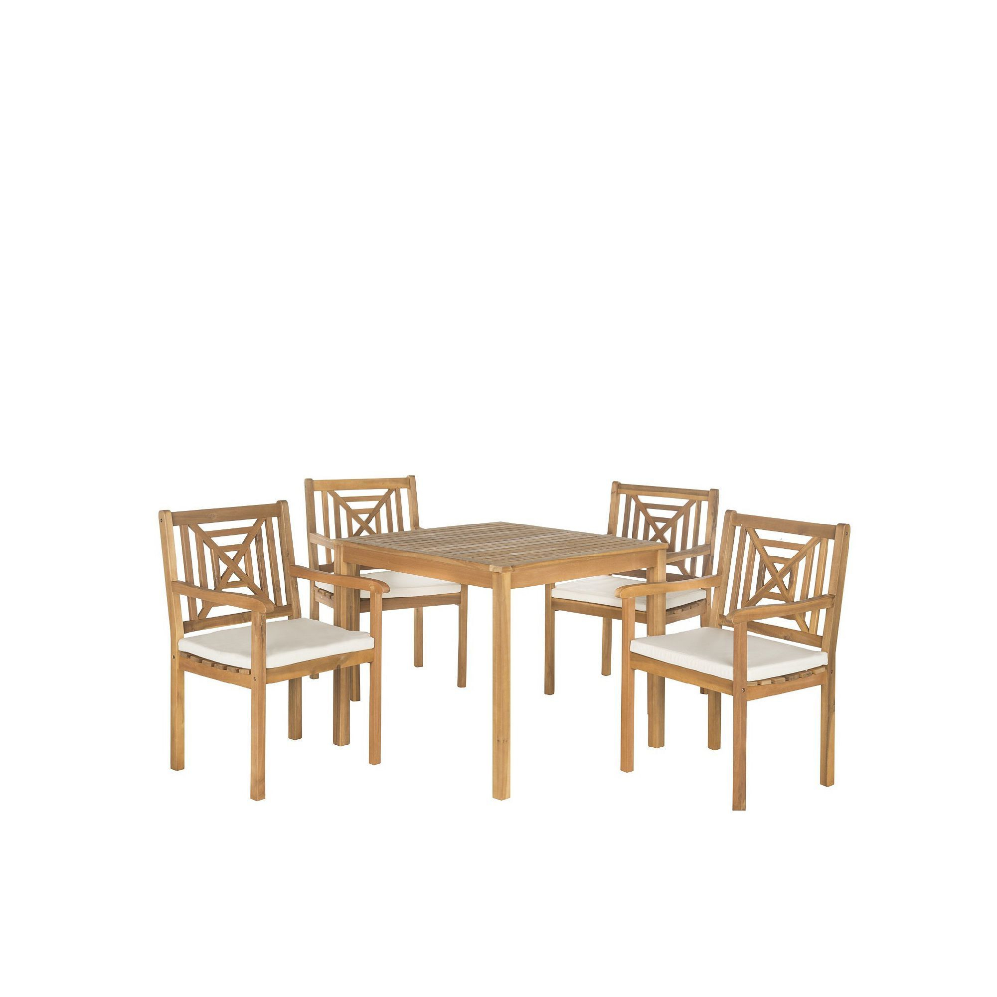 Safavieh Del Mar Indoor / Outdoor Dining Table & Chair 5 Piece Set Within Well Liked Delmar 5 Piece Dining Sets (View 24 of 25)