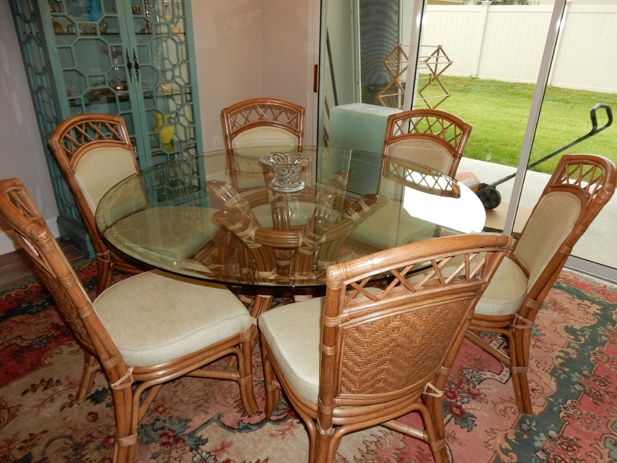 Saint Croix Dining Table With 54 Inch Round Glass From Classic With Regard To Most Recently Released Saintcroix 3 Piece Dining Sets (View 18 of 25)