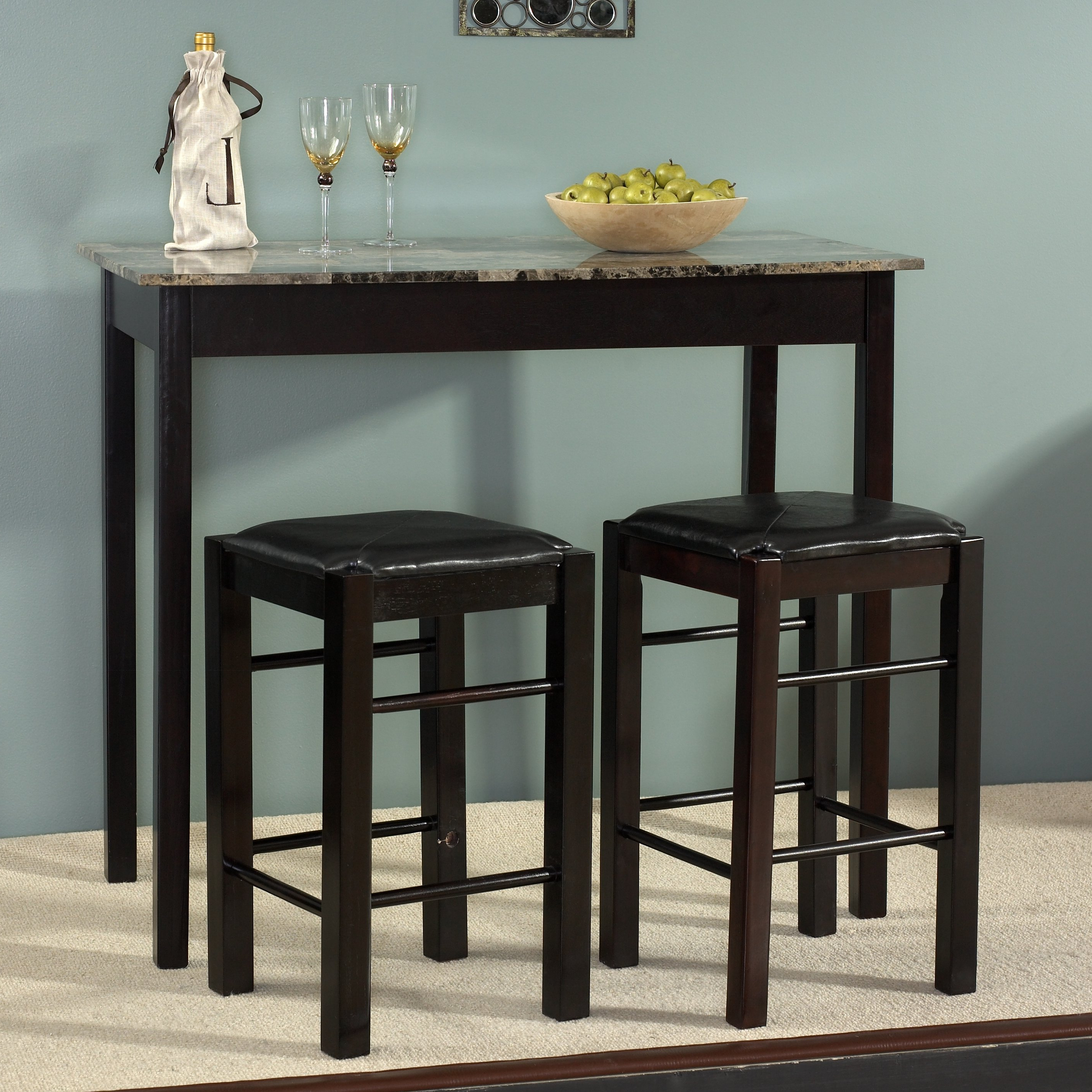 Sheetz 3 Piece Counter Height Dining Sets Throughout Most Recent Sheetz 3 Piece Counter Height Dining Set & Reviews (View 21 of 25)