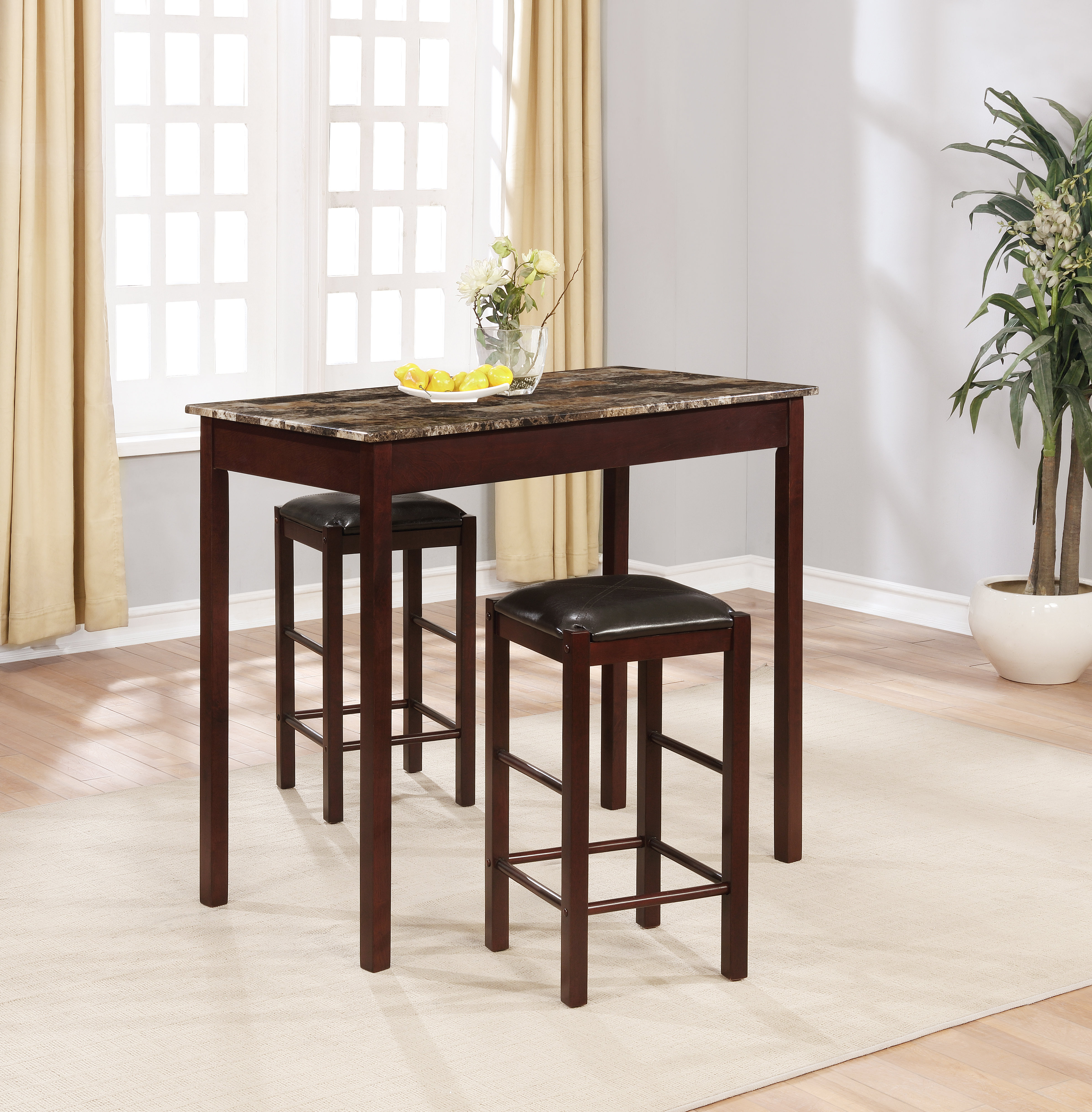 Sheetz 3 Piece Counter Height Dining Sets Within Fashionable Sheetz 3 Piece Counter Height Dining Set (View 3 of 25)