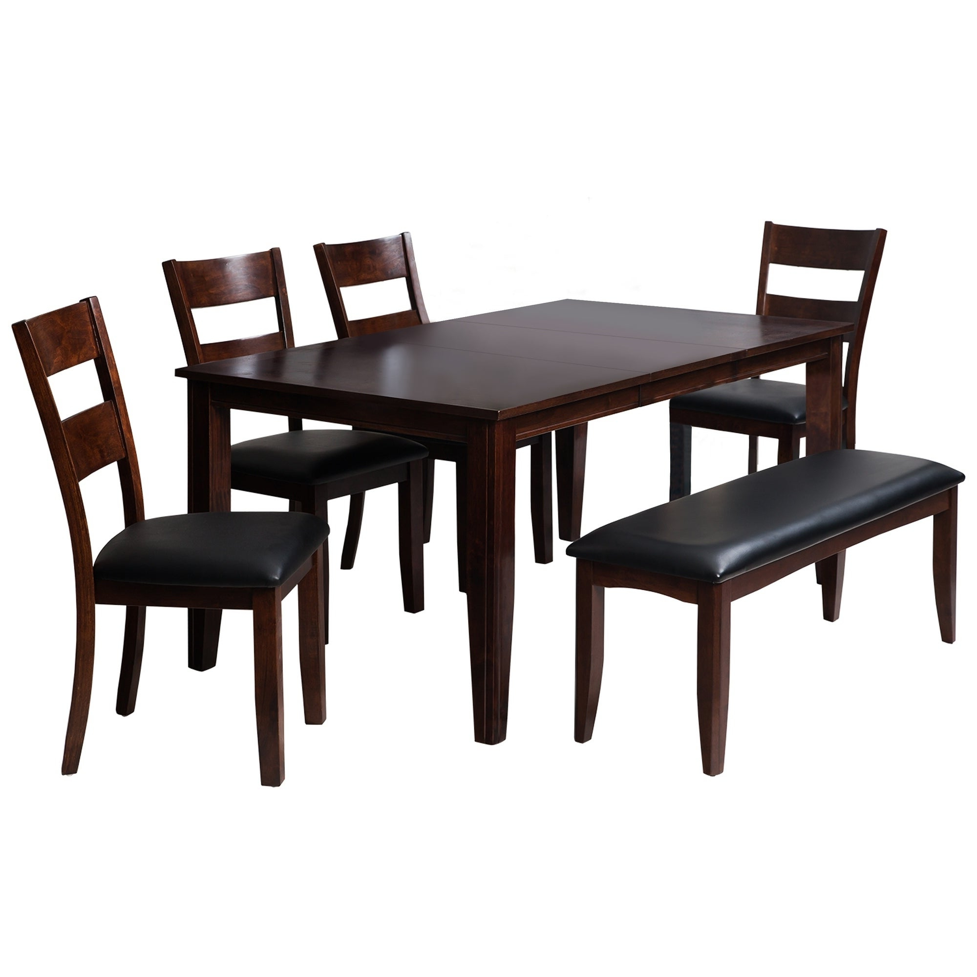 """Shop 6 Piece Solid Wood Dining Set """"aden"""", Modern Kitchen Table Set Pertaining To Fashionable Adan 5 Piece Solid Wood Dining Sets (Set Of 5) (View 21 of 25)"""