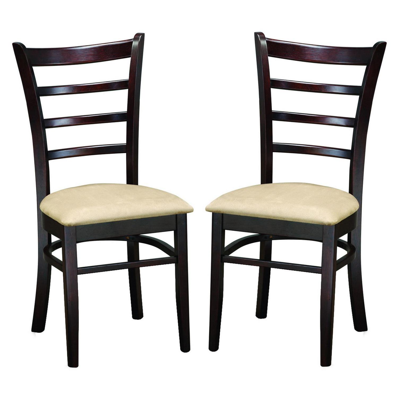 Shop Keitaro Dark Brown Modern Dining Chairs (Set Of 2) – Free Throughout Recent Baxton Studio Keitaro 5 Piece Dining Sets (View 5 of 25)