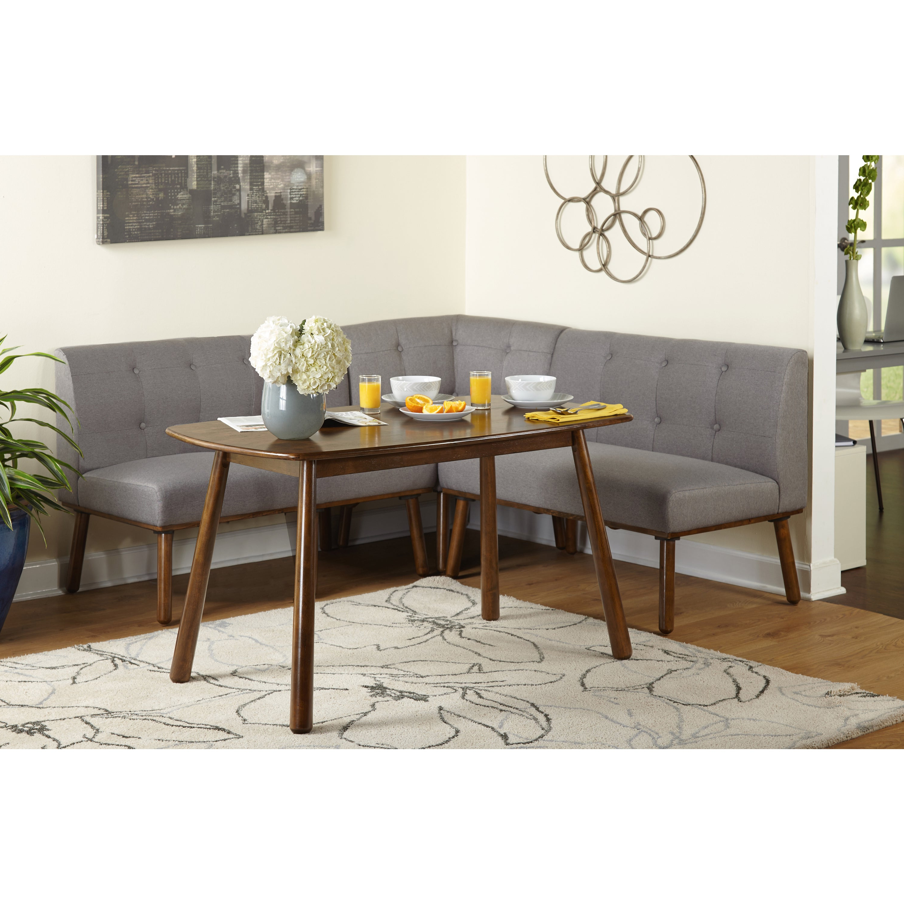 Shop Simple Living 4 Piece Playmate Nook Dining Set – On Sale – Free With Regard To Popular Maloney 3 Piece Breakfast Nook Dining Sets (View 18 of 25)