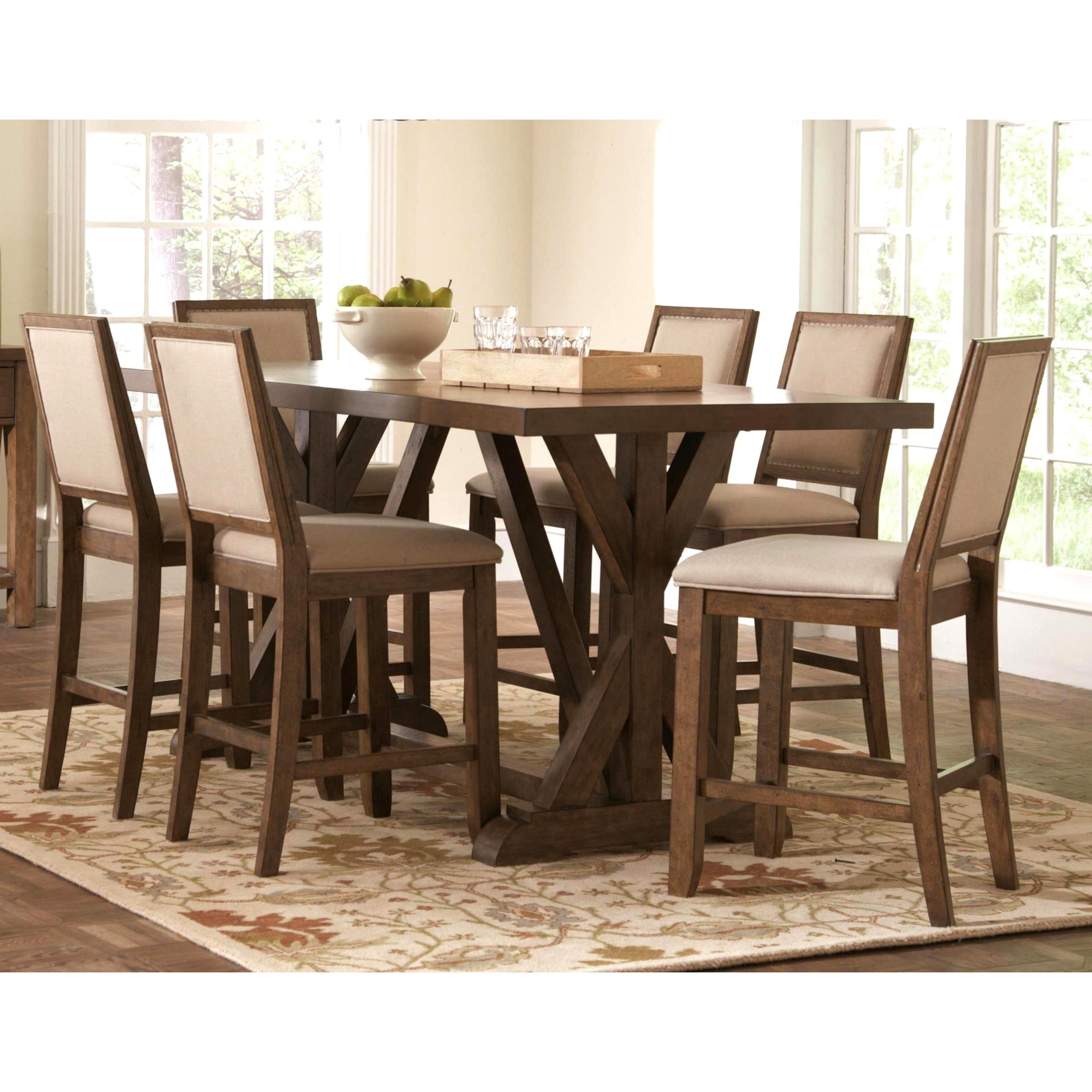 Shop Sontuoso Rustic Trestle Base European Design Counter Height 7 In Popular Wallflower 3 Piece Dining Sets (View 3 of 25)