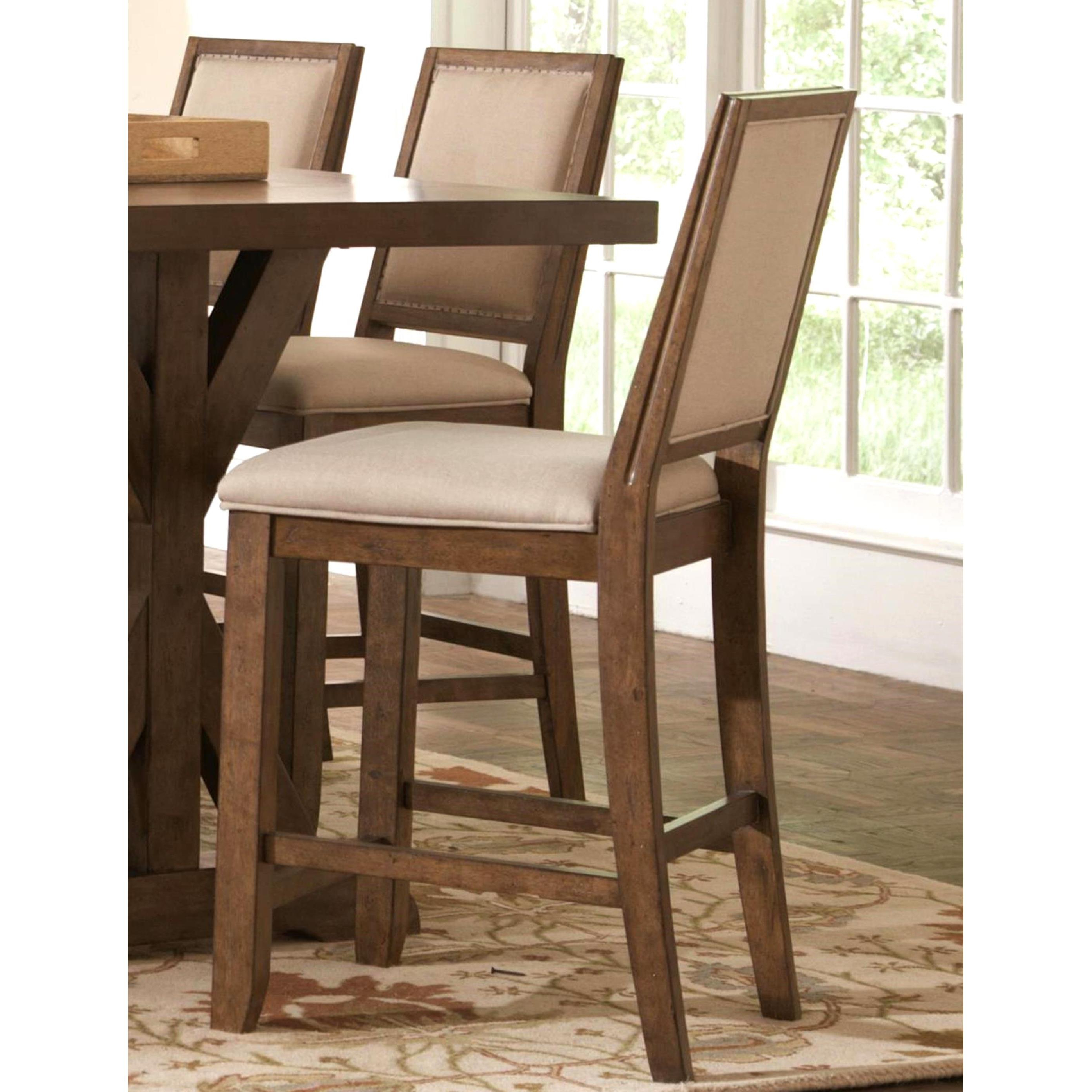 Shop Sontuoso Rustic Trestle Base European Design Counter Height 7 Inside Favorite Wallflower 3 Piece Dining Sets (View 12 of 25)