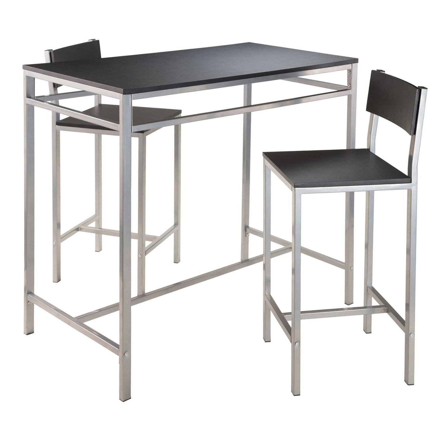Shop Winsome Hanley 3 Piece Pub Height Dining Table Set With 2 In Preferred Winsome 3 Piece Counter Height Dining Sets (View 11 of 25)