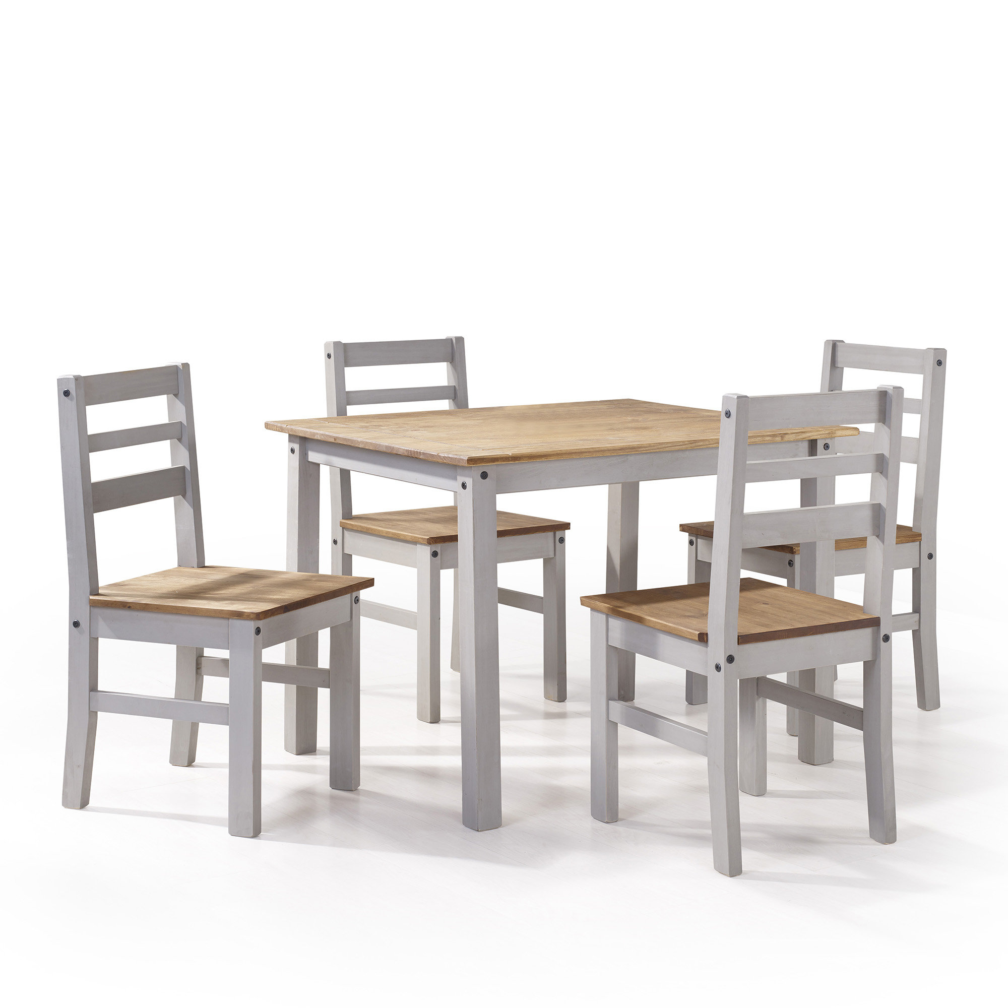 Sundberg 5 Piece Solid Wood Dining Sets Within Well Known Gracie Oaks Robin 5 Piece Solid Wood Dining Set & Reviews (View 20 of 25)
