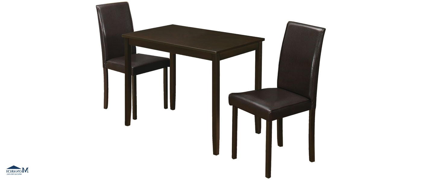 Featured Photo of Lonon 3 Piece Dining Sets