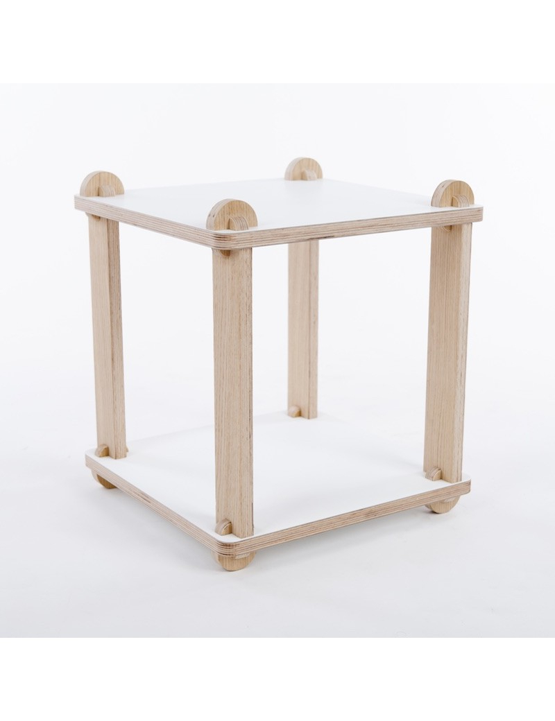 Table Stool Tabuteca – Modular Wood Design – Tabuhome Within Newest Valladares 3 Piece Pub Table Sets (View 9 of 25)