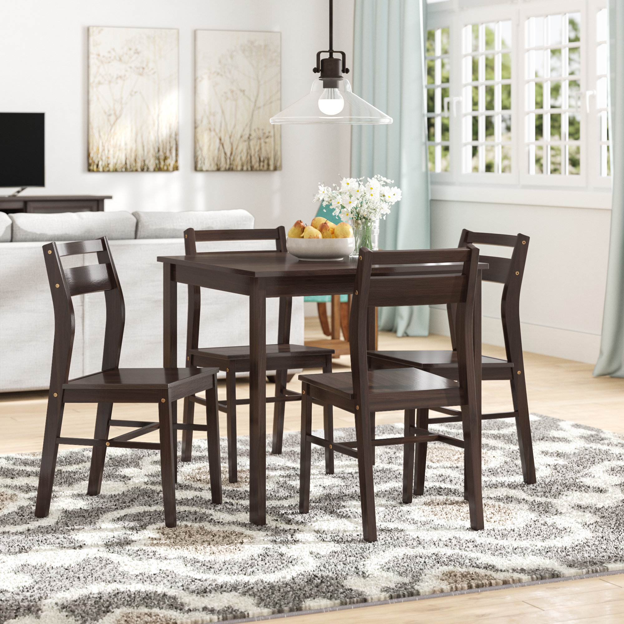 Tejeda 5 Piece Dining Sets Inside Best And Newest Winston Porter Hersom 5 Piece Dining Set (View 15 of 25)