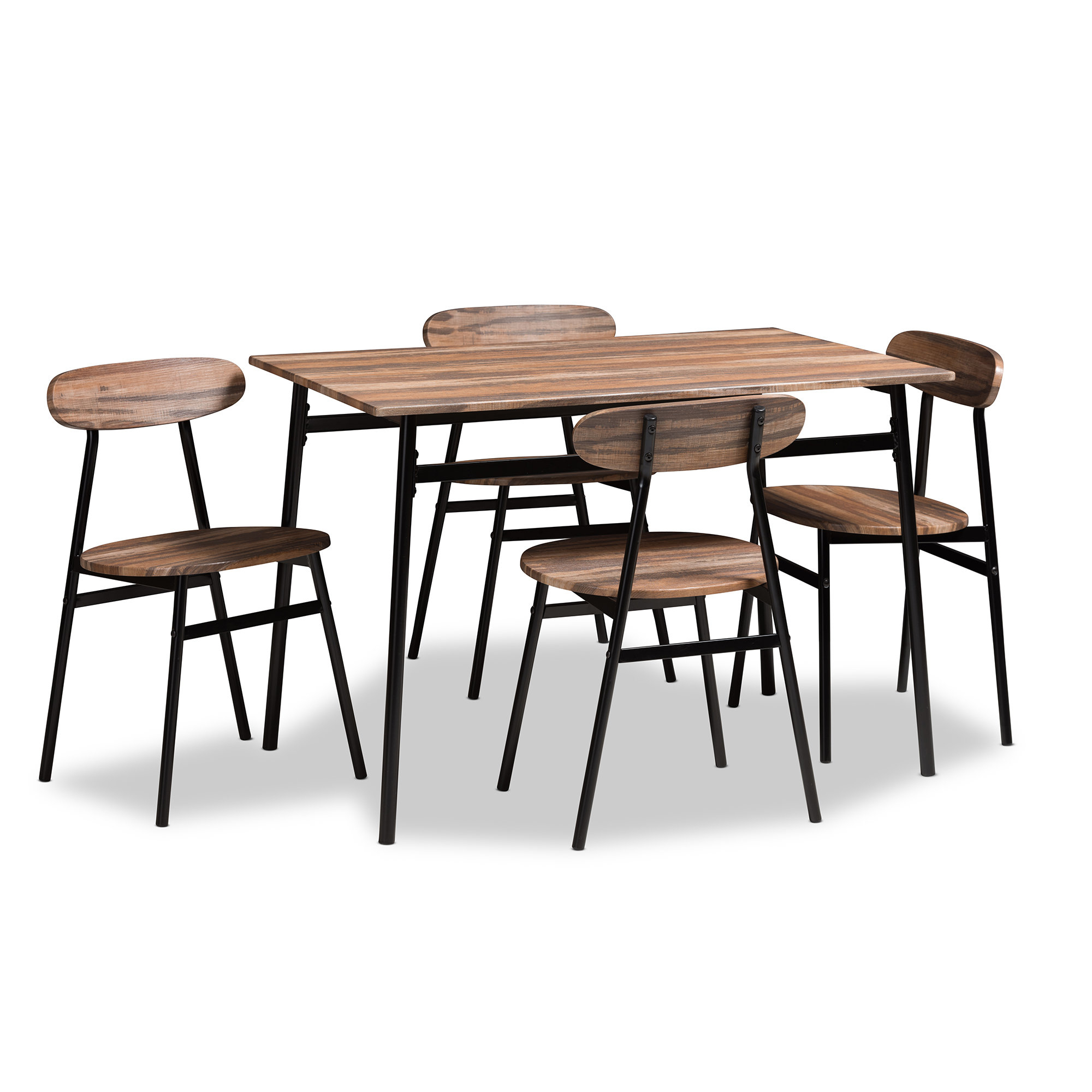 Telauges 5 Piece Dining Set & Reviews (View 4 of 25)