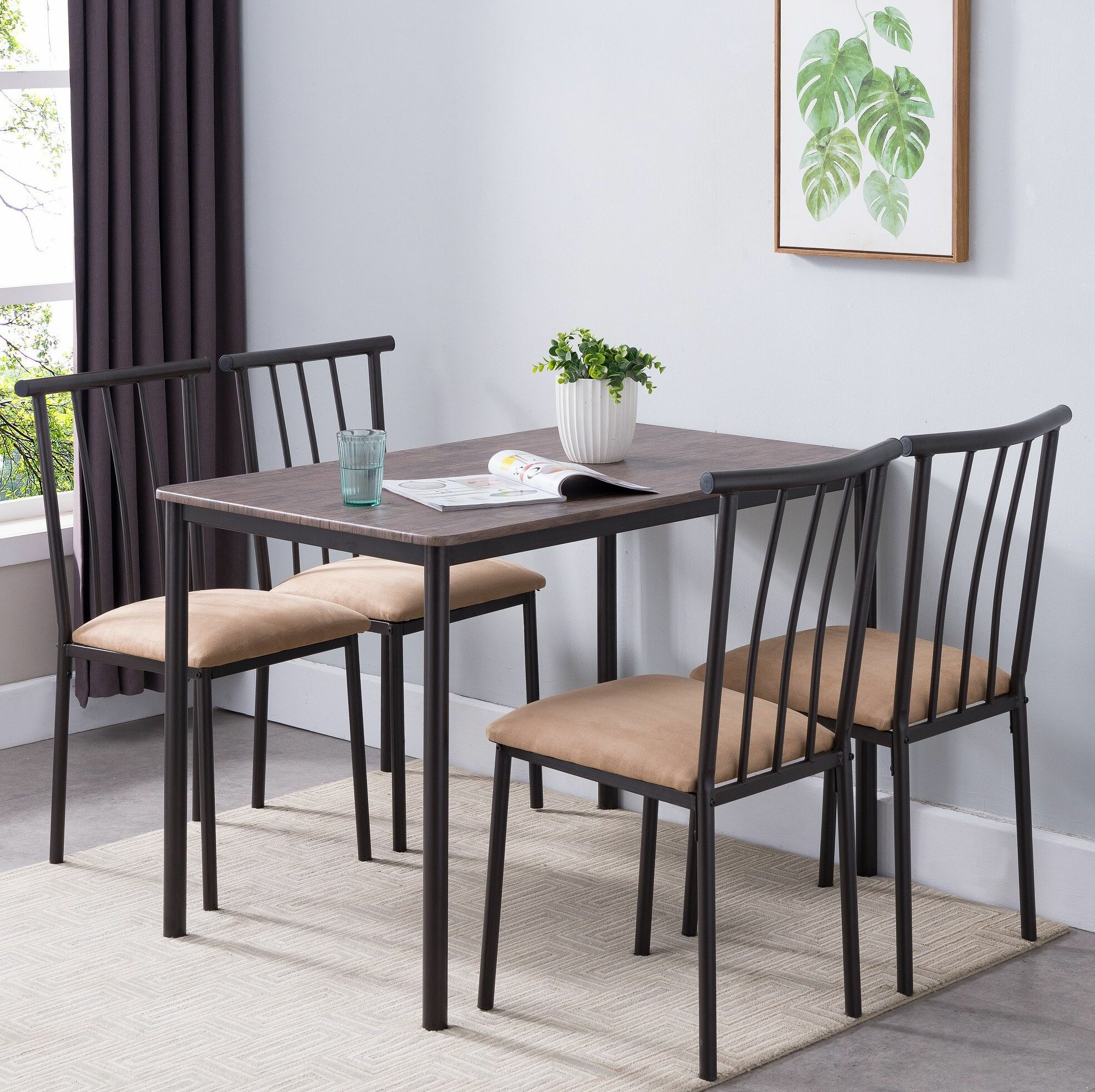 Telauges 5 Piece Dining Sets With Regard To Most Popular Winston Porter Stclair 5 Piece Dining Set (View 8 of 25)