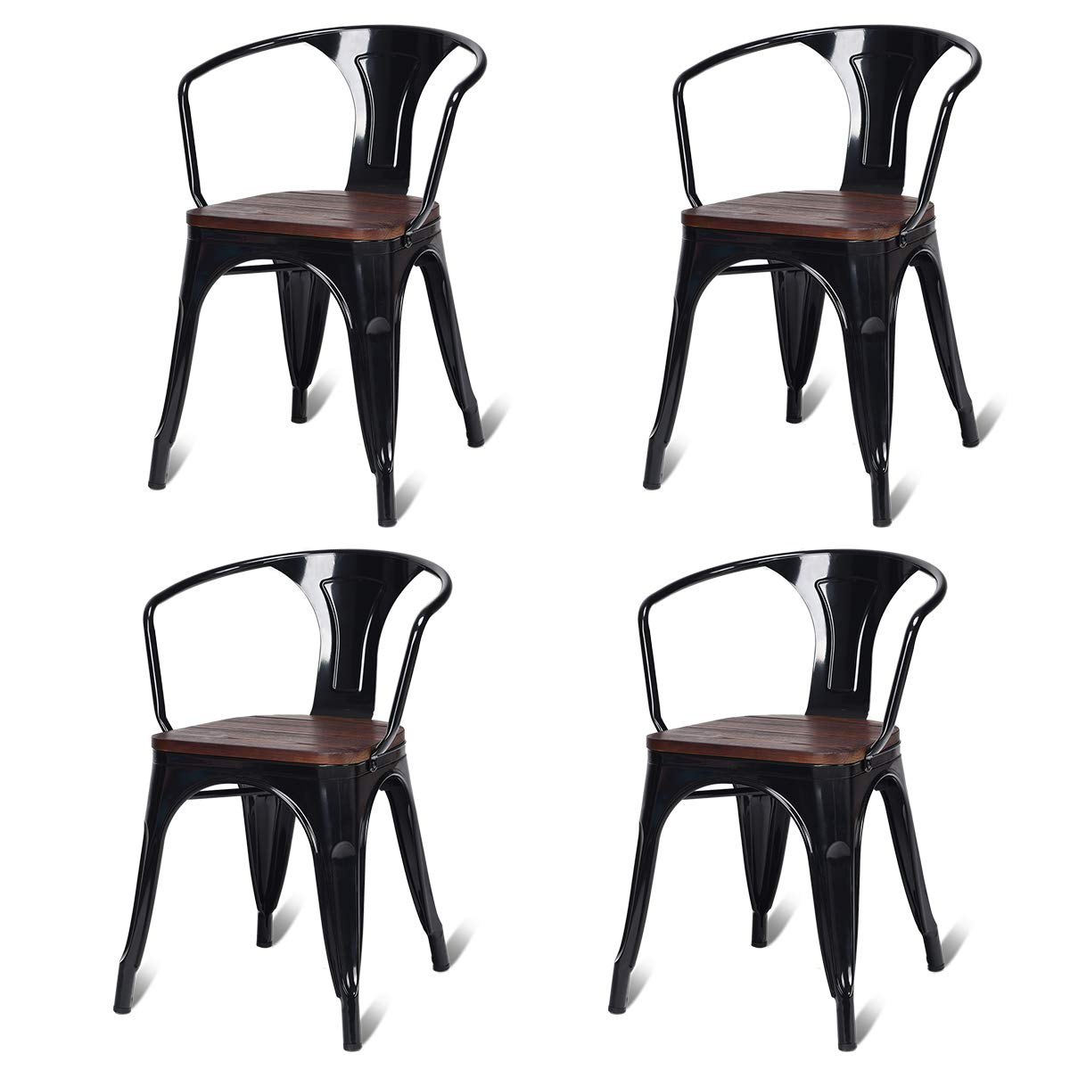 Tenney 3 Piece Counter Height Dining Sets Within Best And Newest Amazon: Costway Tolix Style Dining Chairs Industrial Metal (View 19 of 25)