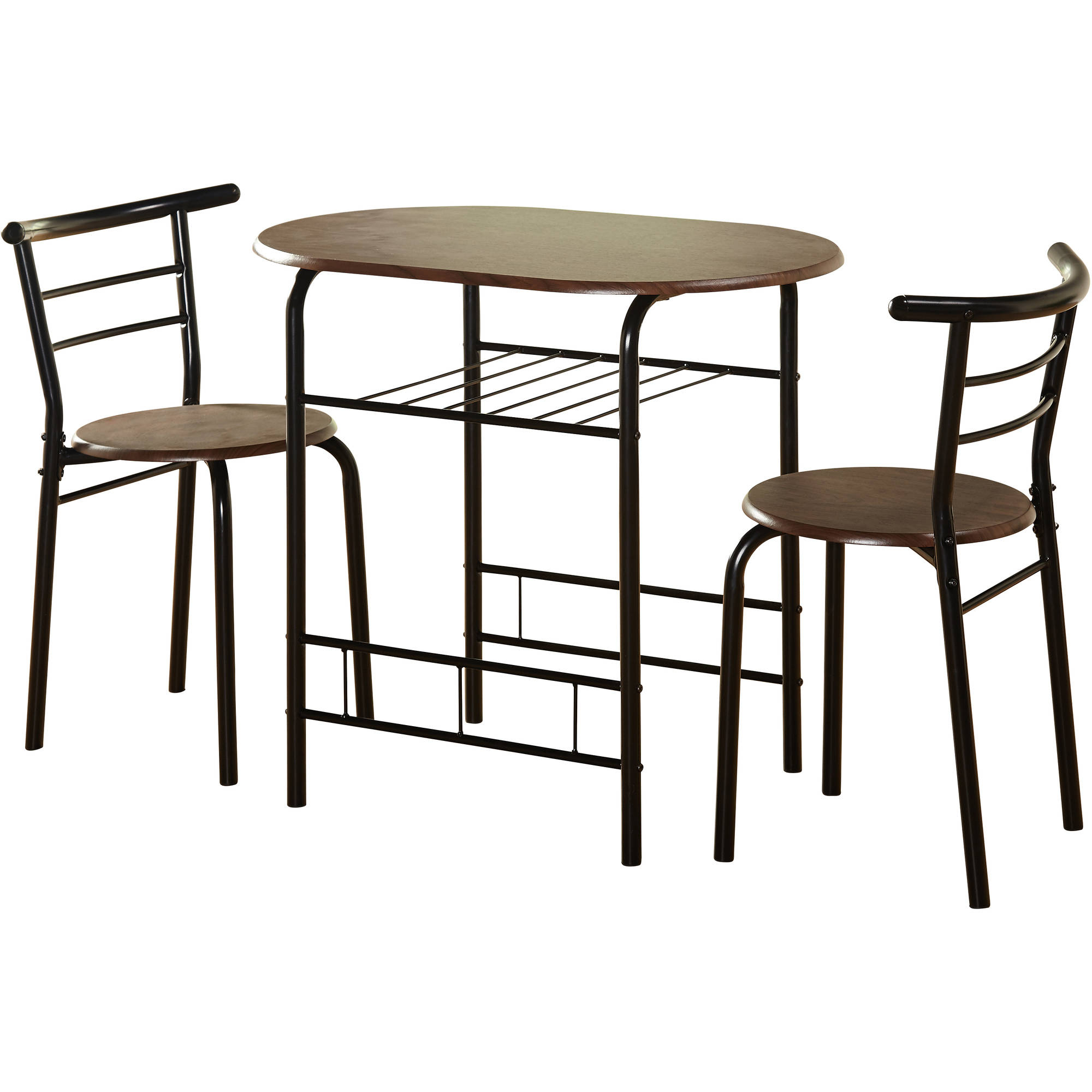 Tms 3 Piece Bistro Dining Set – Walmart With Popular Bate Red Retro 3 Piece Dining Sets (View 17 of 25)