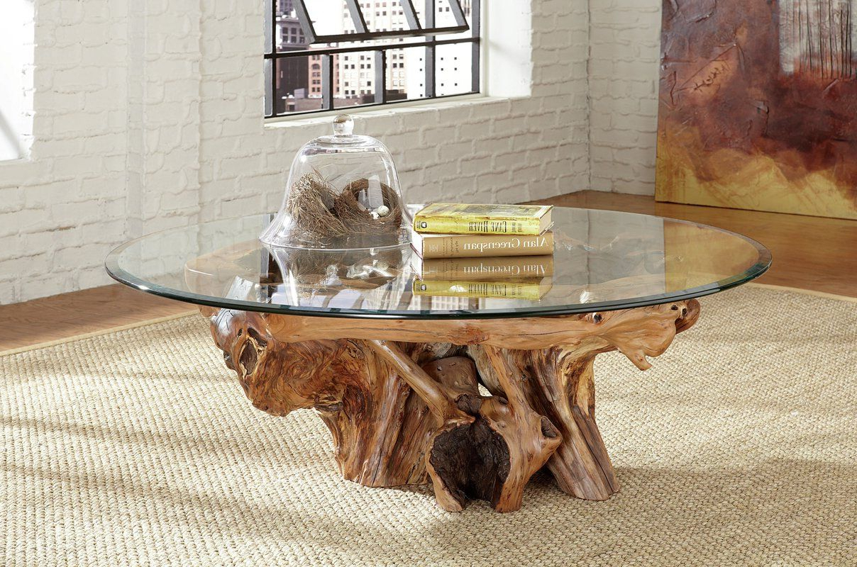 Tree Coffee Table Intended For 2019 Poynter 3 Piece Drop Leaf Dining Sets (View 17 of 25)