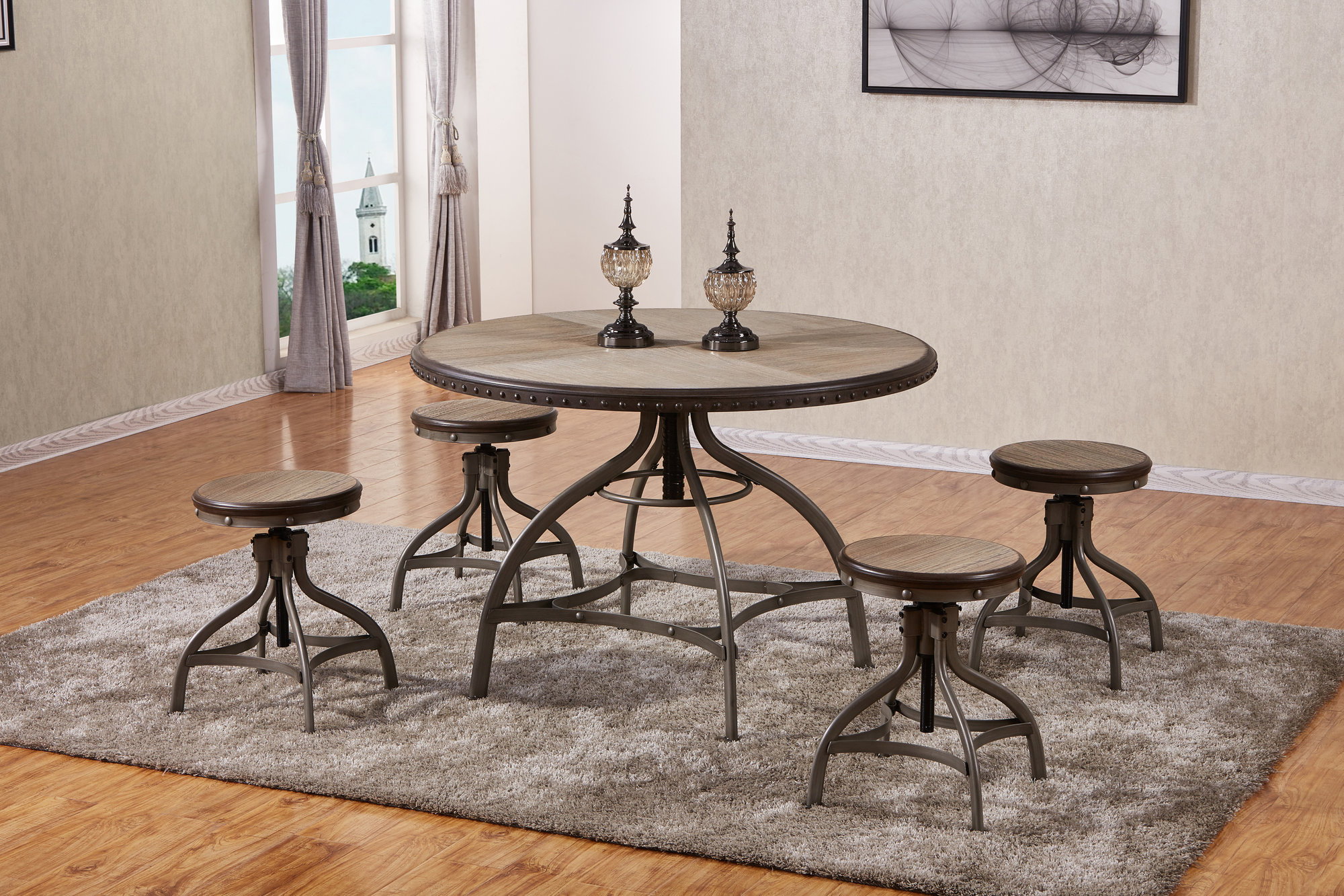 Trendy 17 Stories Clarklake 5 Piece Dining Set 192440006954