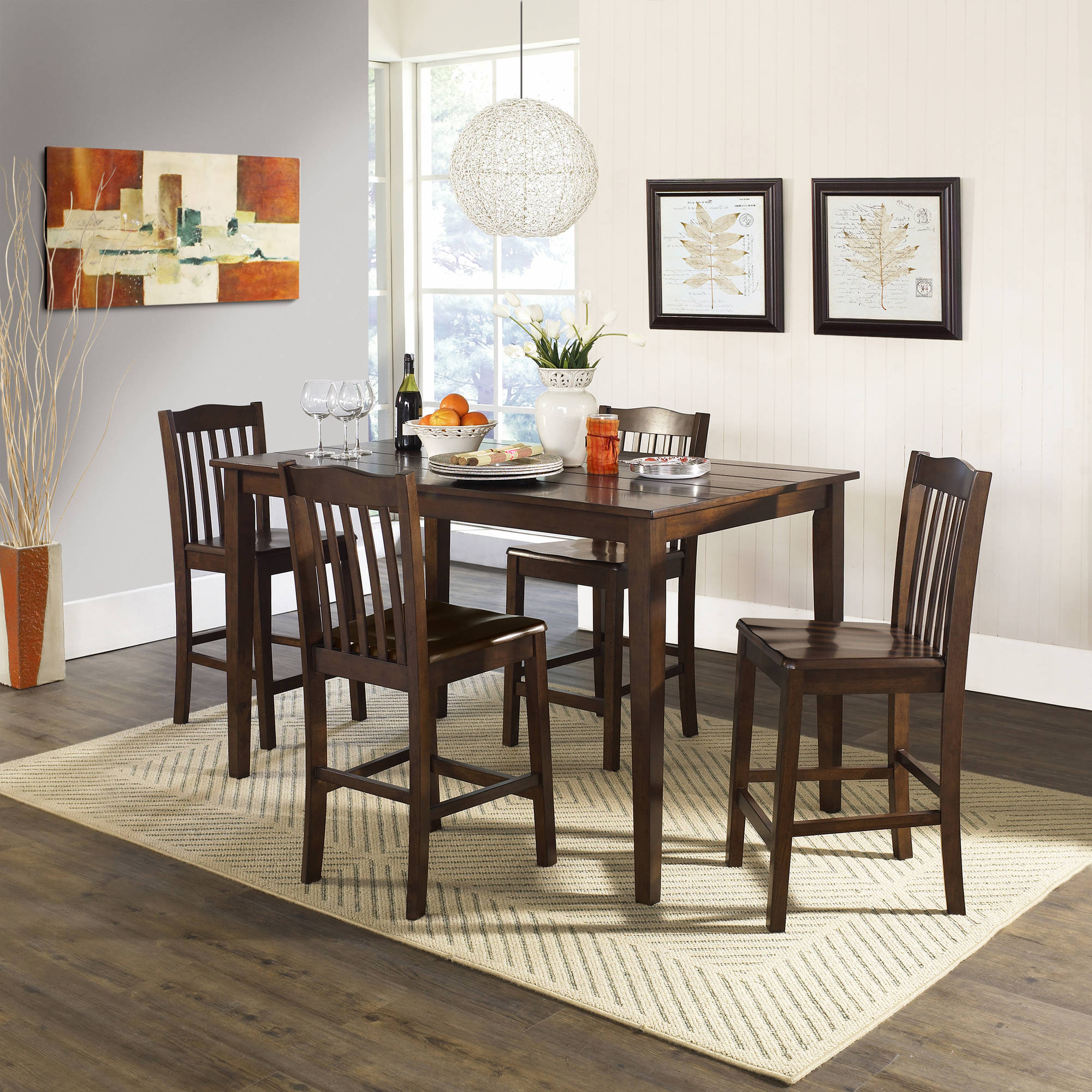 Trendy 5 Piece Baxter Dining Set With Storage Ottoman, Multiple Colors Inside Anette 3 Piece Counter Height Dining Sets (View 20 of 25)