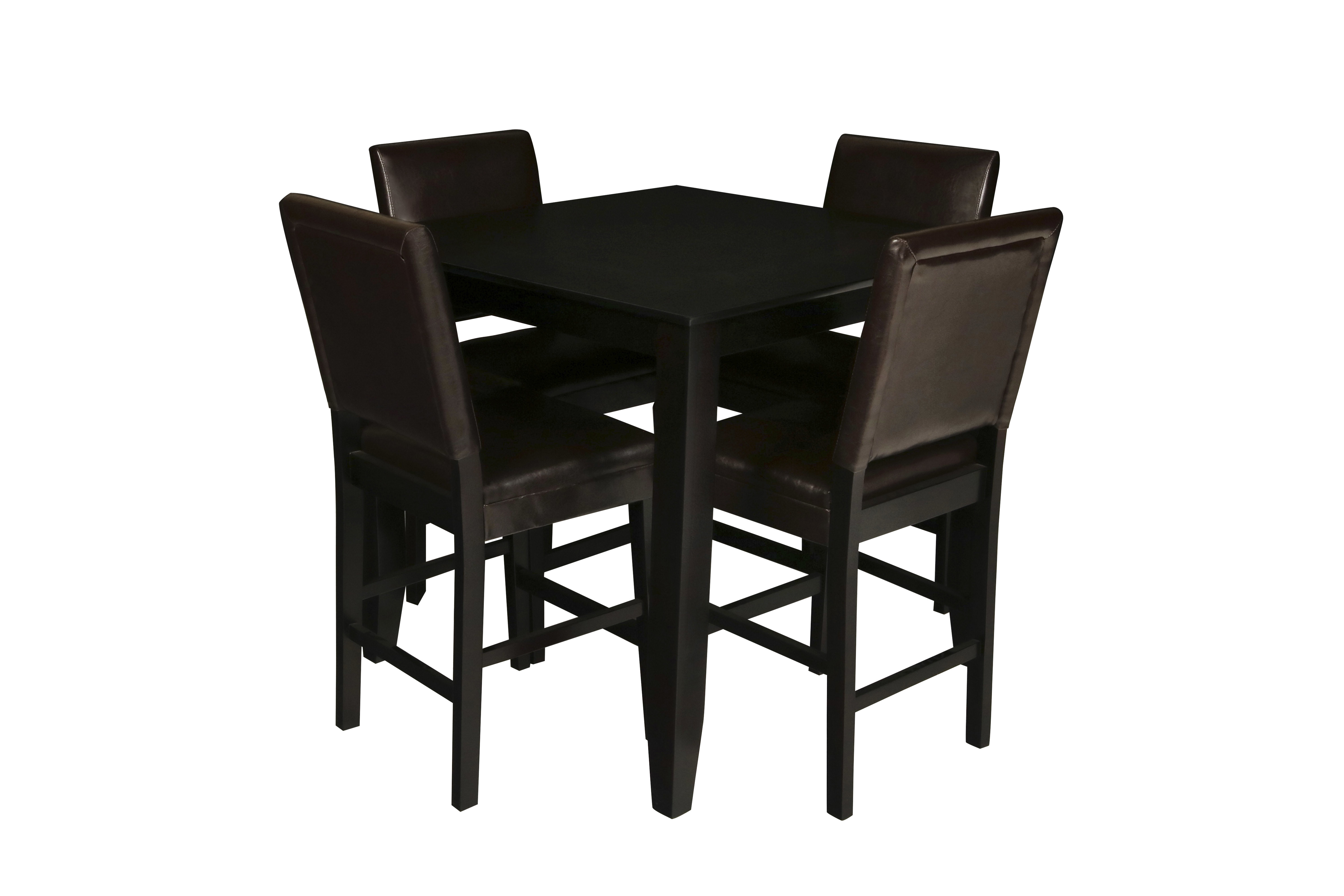 Trendy August Grove Isai 5 Piece Counter Height Dining Table Set (View 10 of 25)