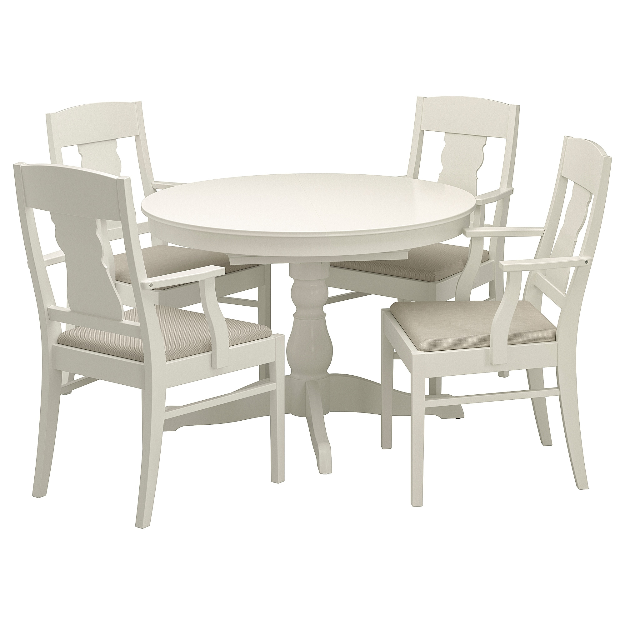 Trendy Castellanos Modern 5 Piece Counter Height Dining Sets Throughout Ingatorp / Ingatorp Table And 4 Chairs – White – Ikea (View 23 of 25)