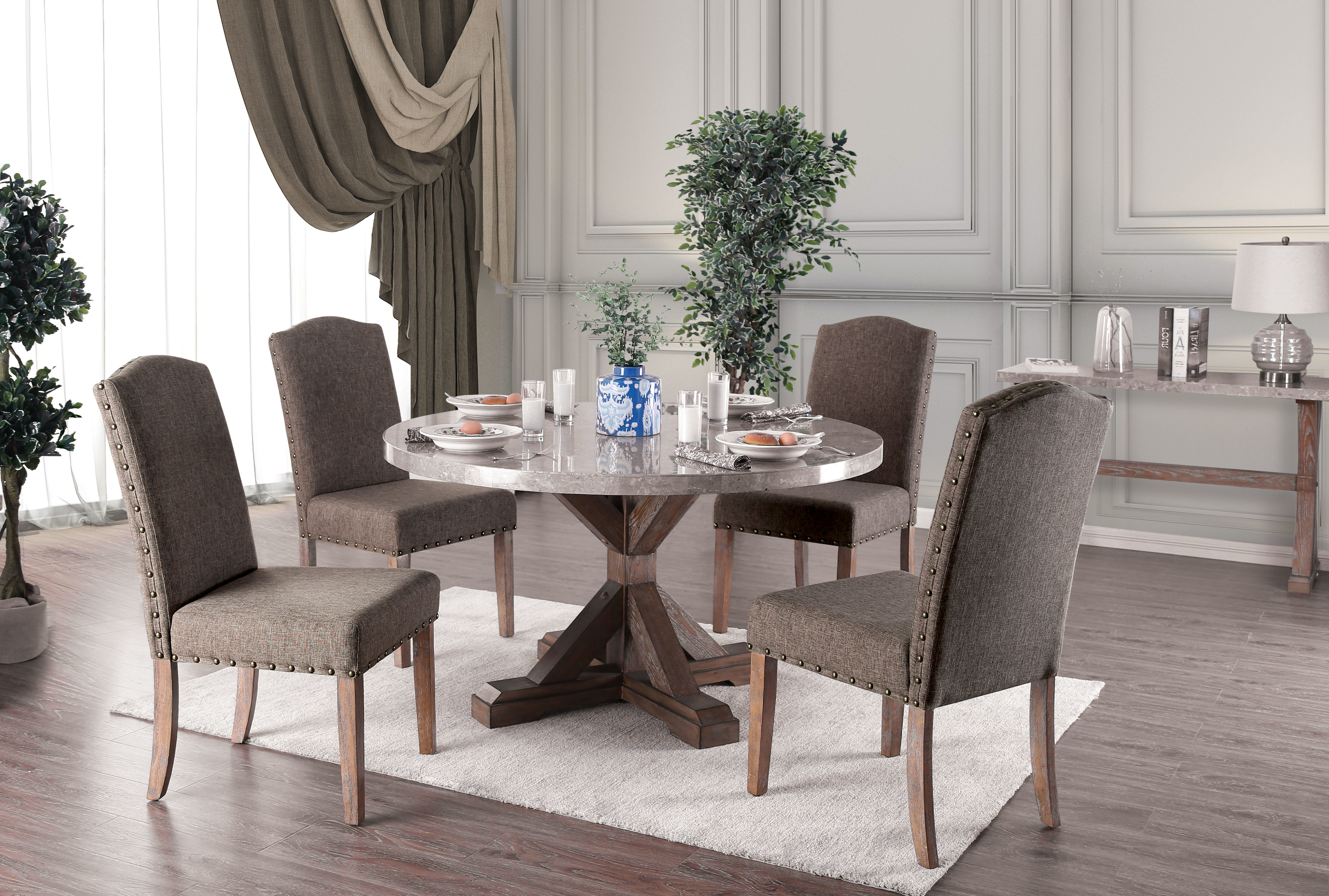 Trendy One Allium Way Abigail 5 Piece Dining Set (View 15 of 25)