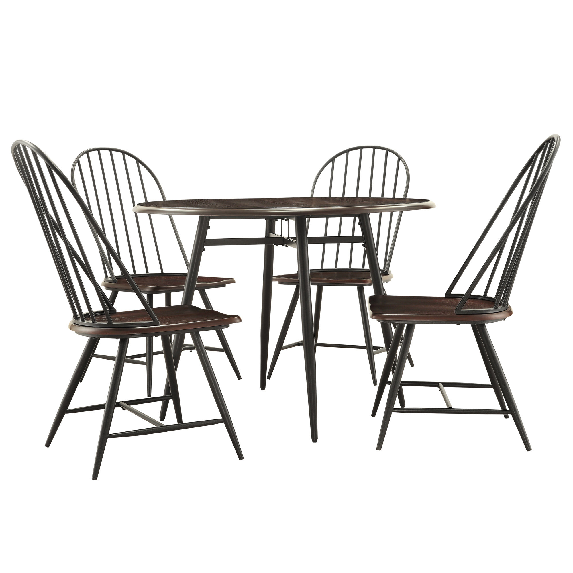 Trendy Tejeda 5 Piece Dining Sets With Regard To Hughley 5 Piece Dining Set (View 14 of 25)