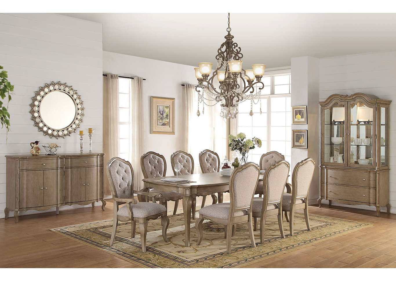 Trendy The Furniture Outlet Ny Chelmsford Antique Taupe Rectangular Dining With Chelmsford 3 Piece Dining Sets (View 21 of 25)