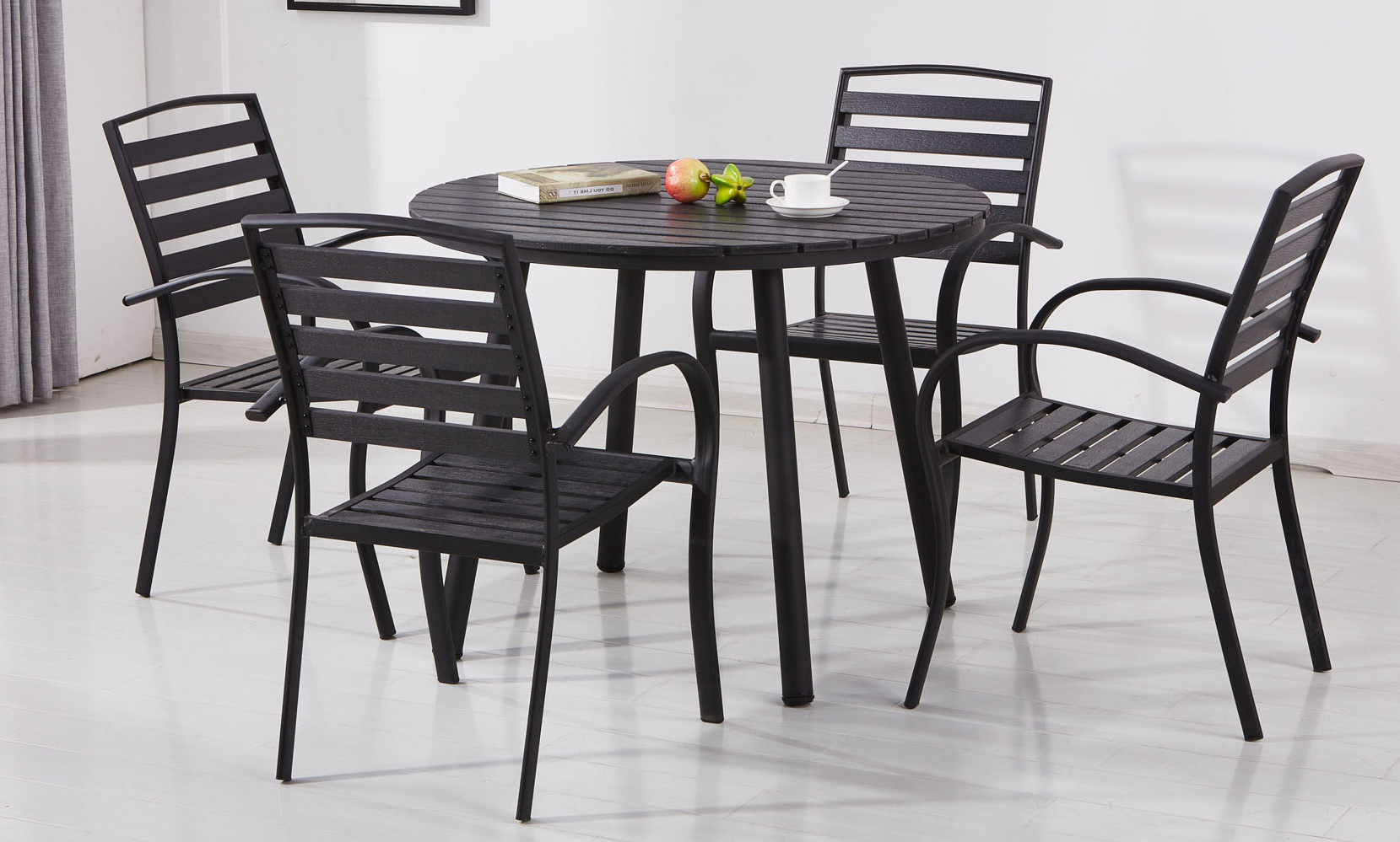 Trendy Wrought Studio Gallien Modern Contemporary 5 Piece Dining Set (View 9 of 25)