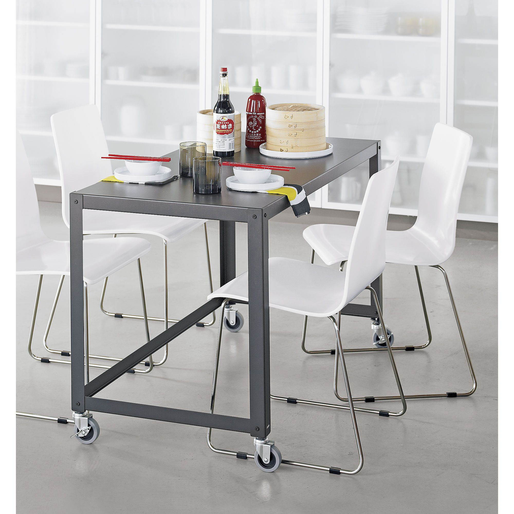 Turnalar 5 Piece Dining Sets Throughout Well Known Go Cart Carbon Grey Desk (View 13 of 25)