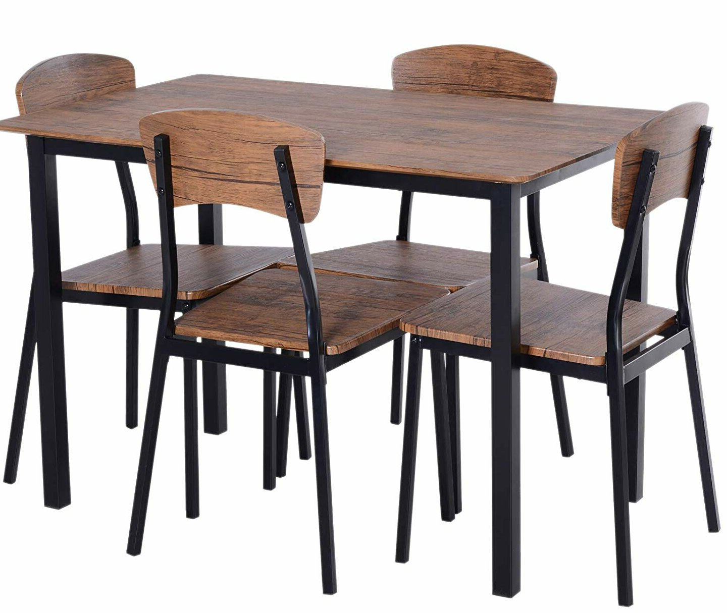 Union Rustic Castellanos Modern 5 Piece Counter Height Dining Set Inside Well Known Shepparton Vintage 3 Piece Dining Sets (View 15 of 25)