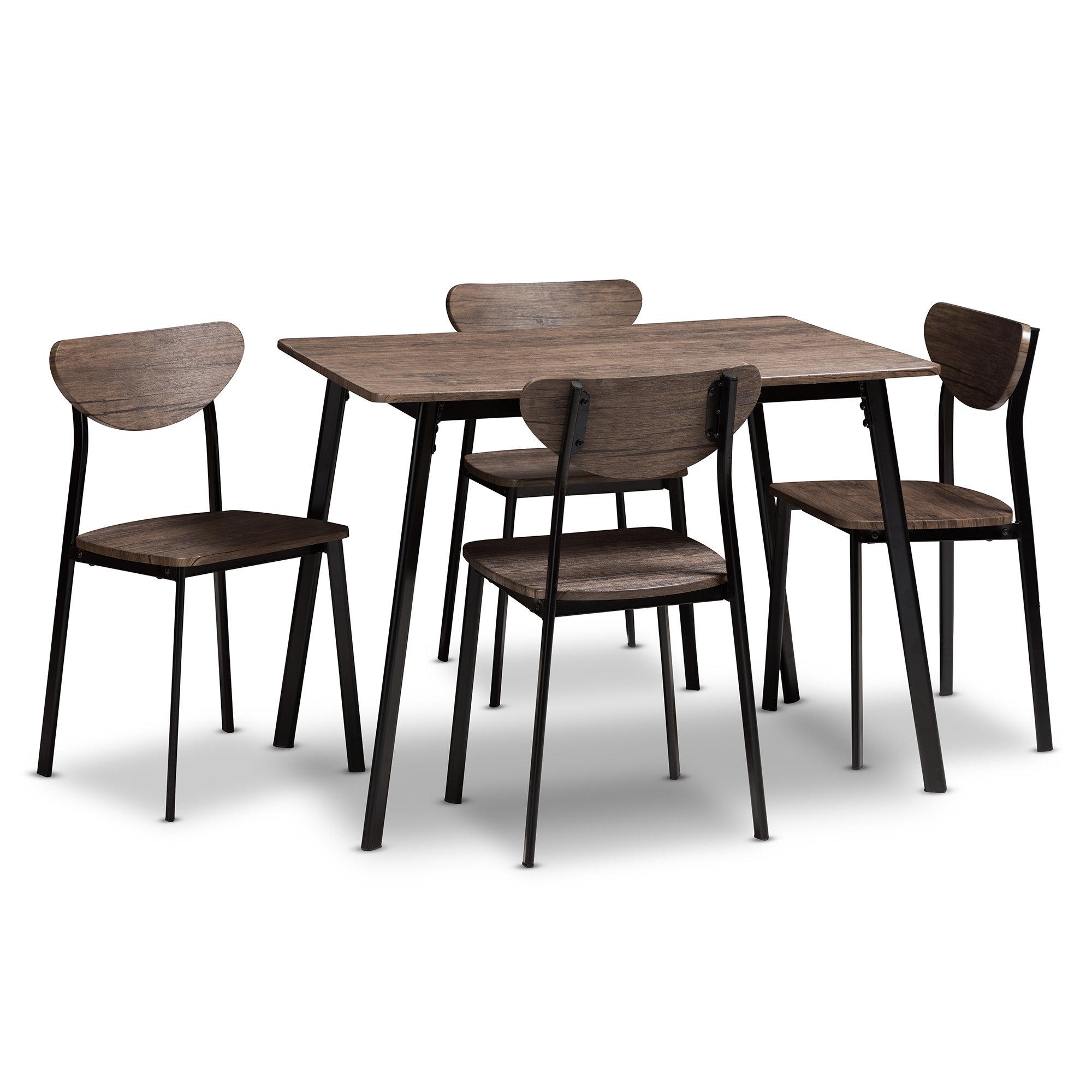 Union Rustic Tejeda 5 Piece Dining Set & Reviews (View 18 of 25)
