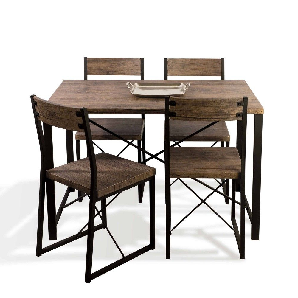 Urban Blend Dining Set Brown/black – Urb Space In  (View 10 of 25)