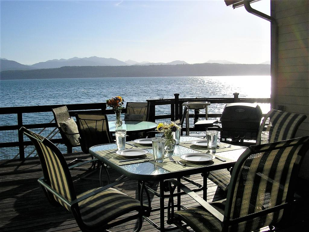 Vacation Home Union City Beach House At Hood Canal, Waterfront With Famous Hood Canal 3 Piece Dining Sets (View 19 of 25)