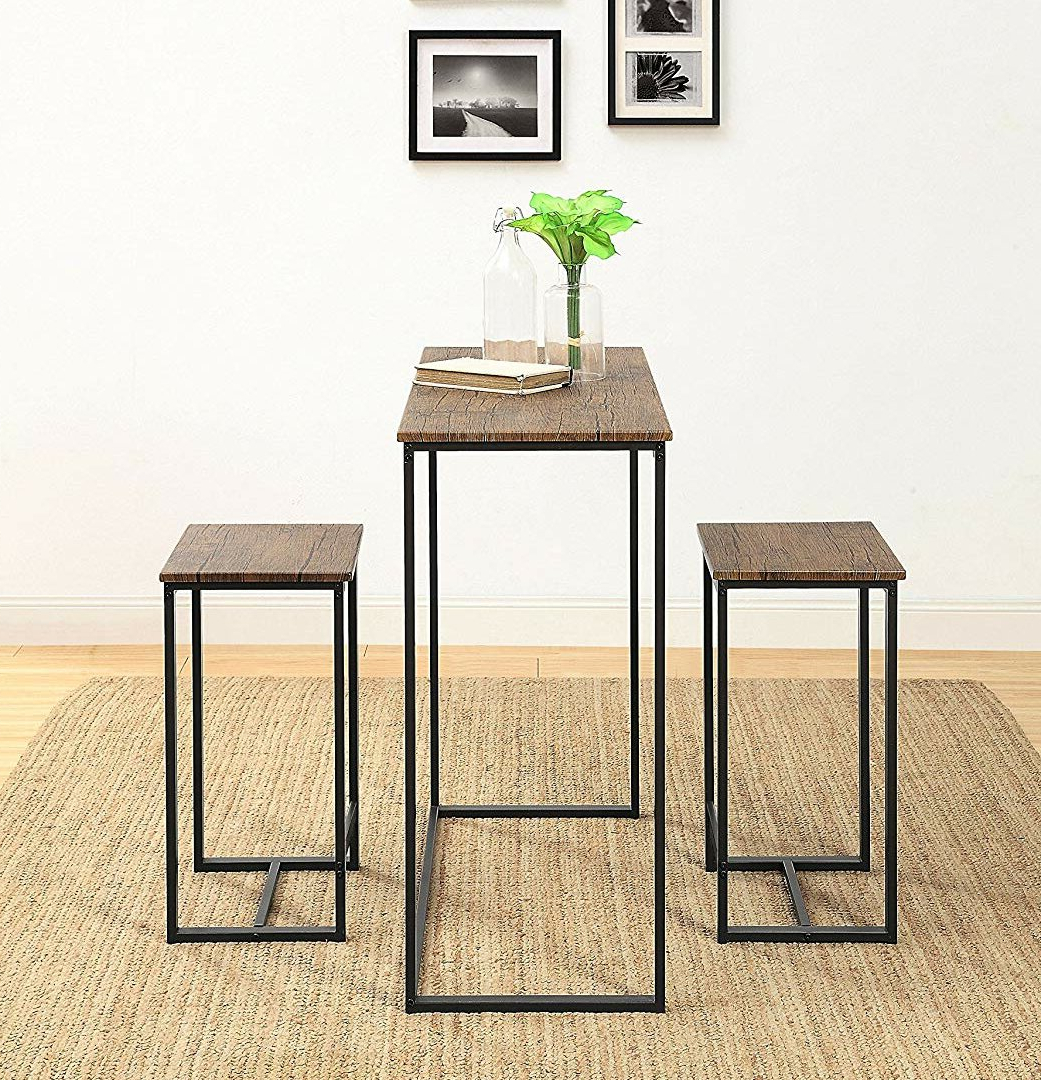 Valladares 3 Piece Pub Table Sets In Fashionable Union Rustic Saintcroix 3 Piece Dining Set (Gallery 3 of 25)