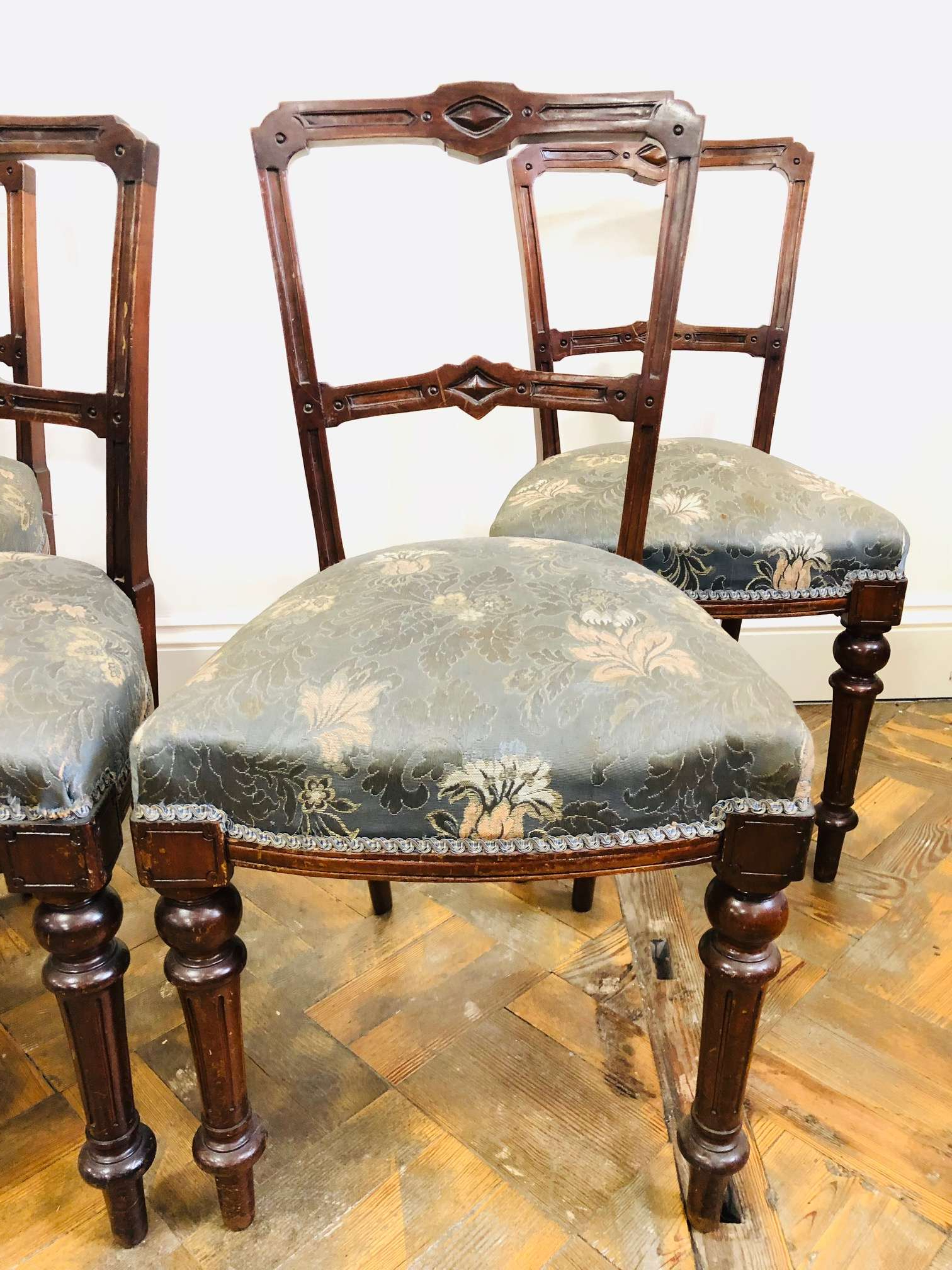 Walnut Dining Chairs 2 Of 3 - The Penderyn Furniture Co. intended for Most Recent Rossiter 3 Piece Dining Sets