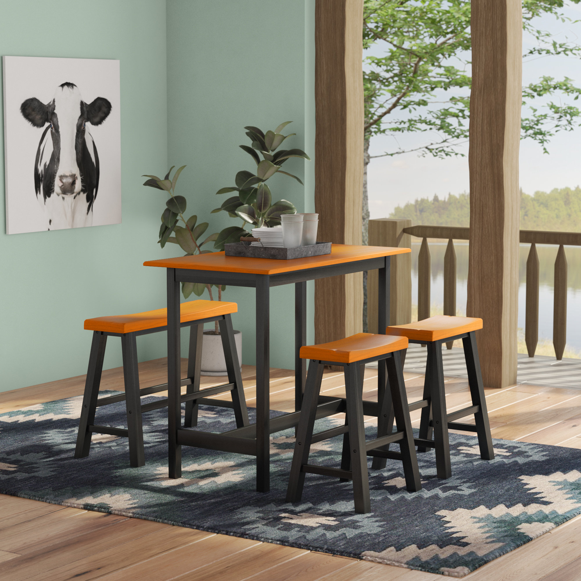Featured Photo of Kerley 4 Piece Dining Sets