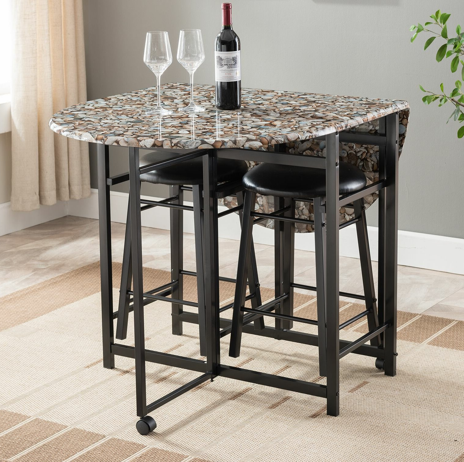 Wayfair In Famous Anette 3 Piece Counter Height Dining Sets (View 22 of 25)