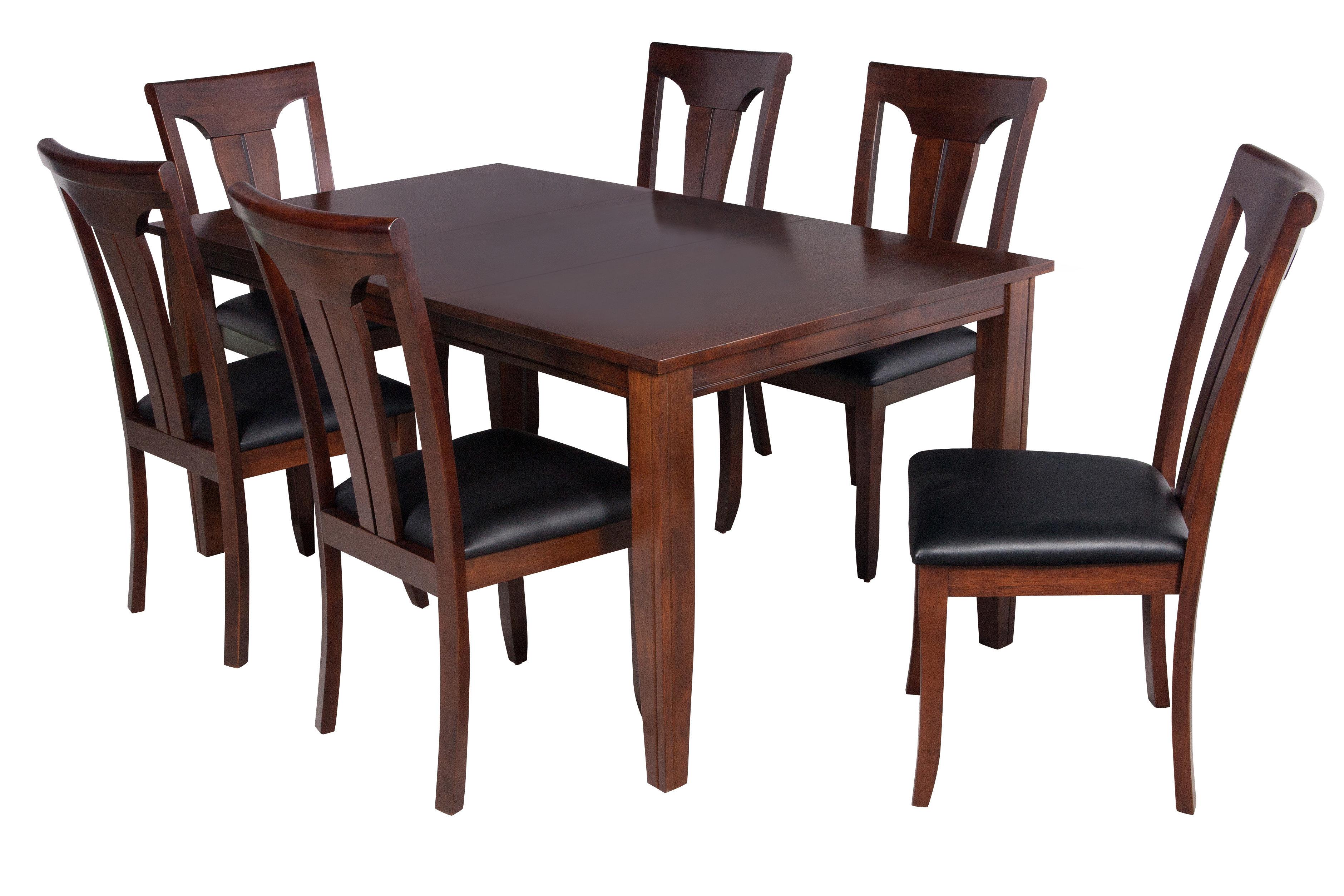 Wayfair Inside 2019 Adan 5 Piece Solid Wood Dining Sets (Set Of 5) (View 25 of 25)