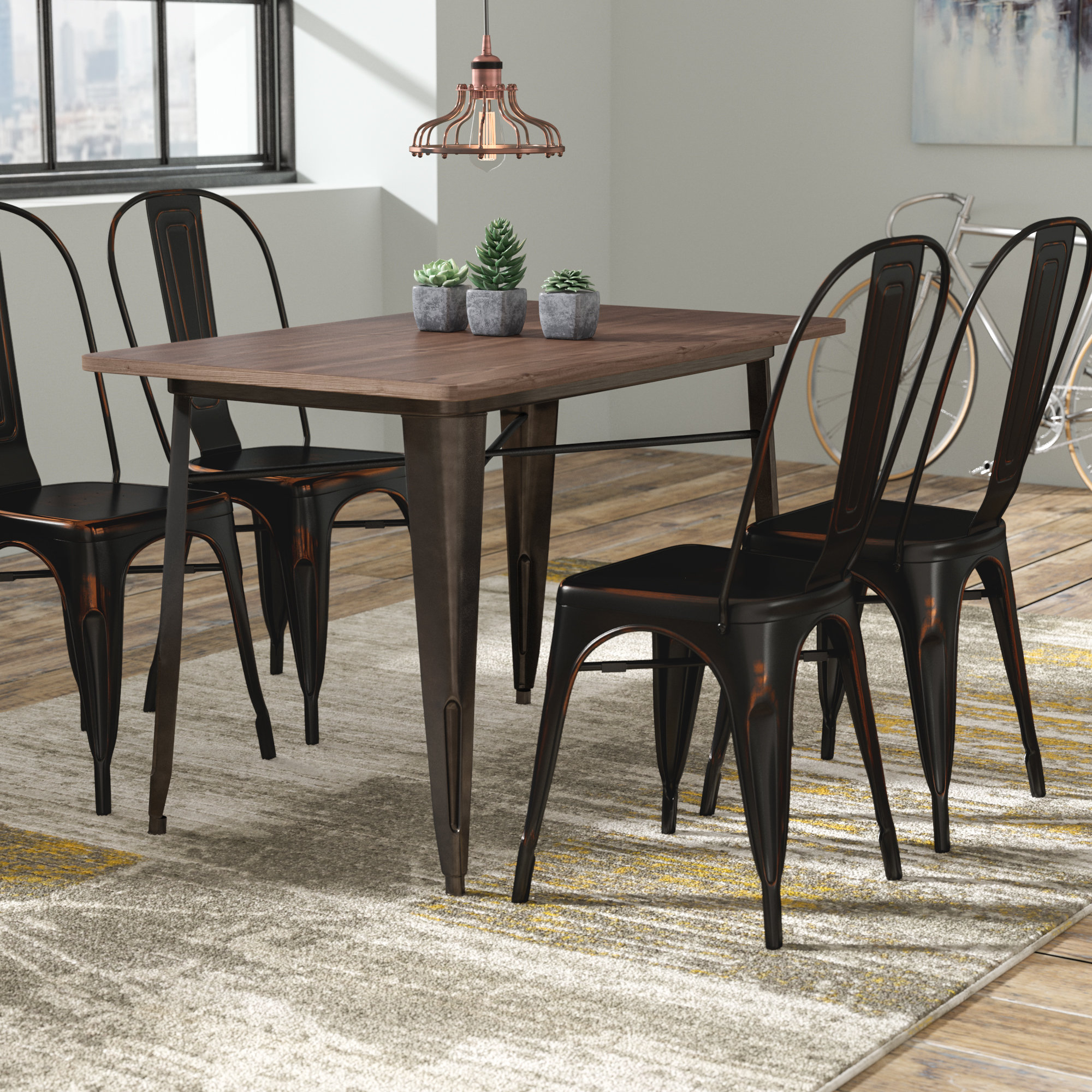 Wayfair Inside Best And Newest Telauges 5 Piece Dining Sets (View 16 of 25)